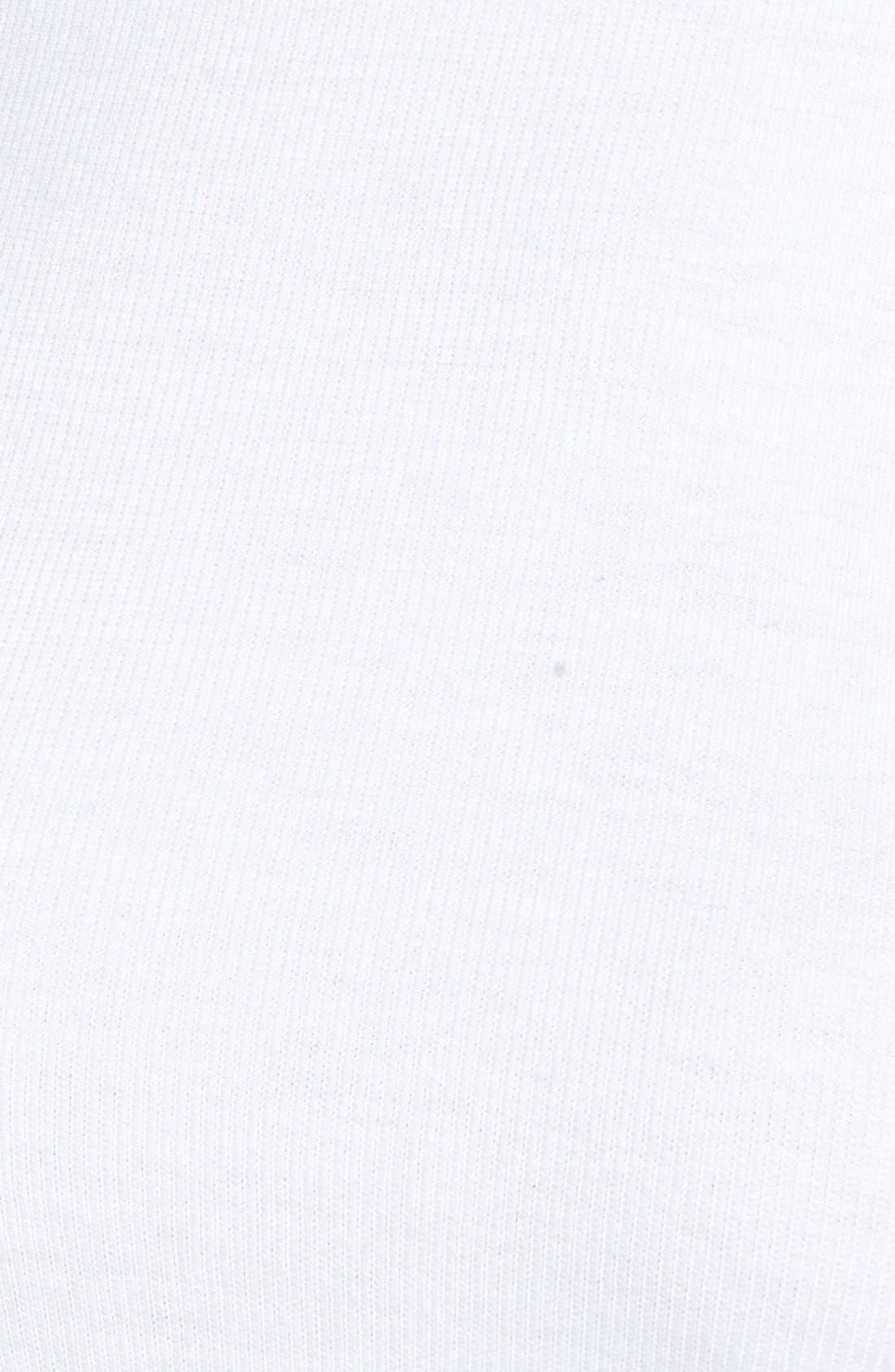 Ribbed Long Sleeve Tee,                             Alternate thumbnail 5, color,                             White
