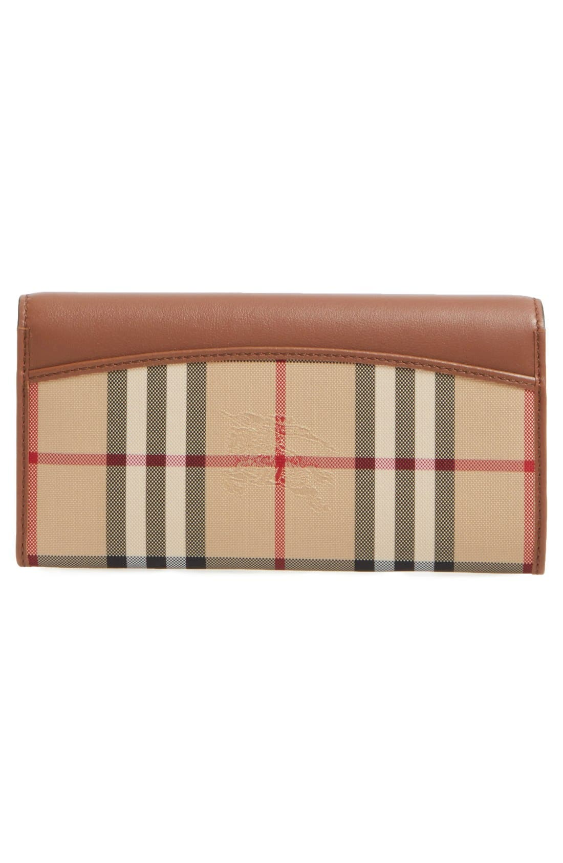 Alternate Image 4  - Burberry 'Porter - Horseferry Check' Continental Wallet