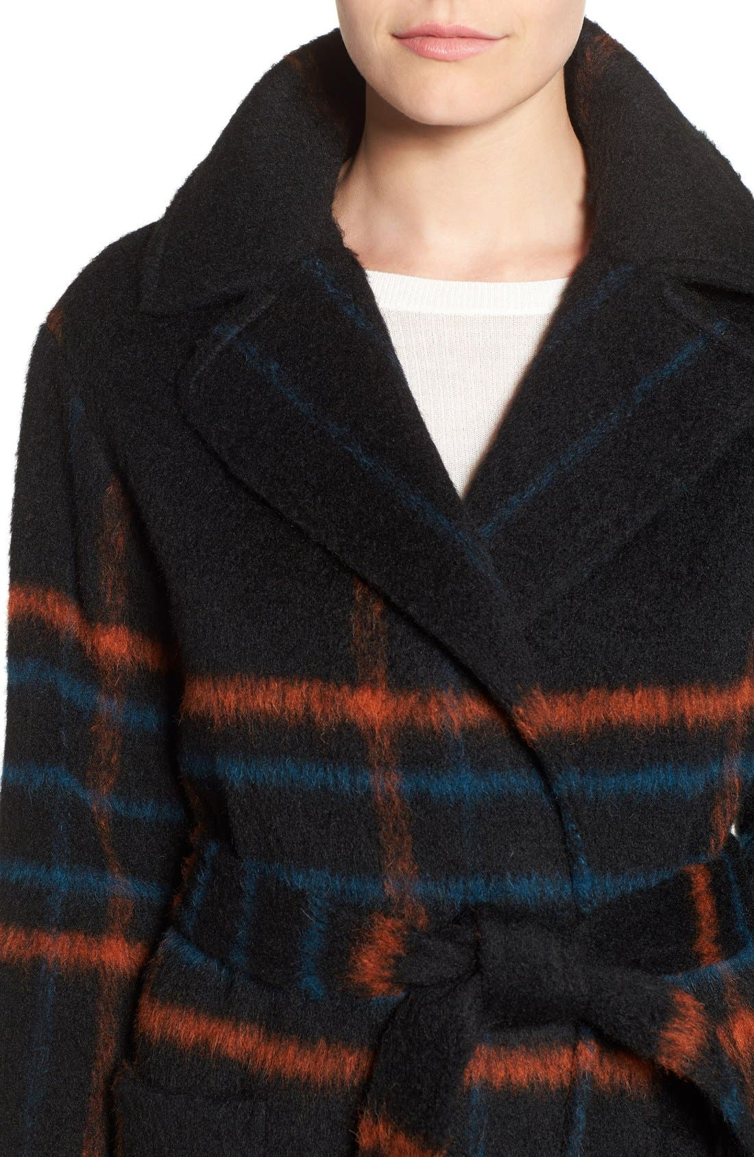 Alternate Image 4  - Trina Turk 'Margaret' Check Wrap Coat