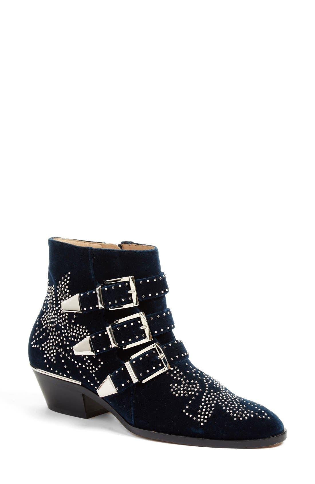CHLOÉ Susan Studded Buckle Boot