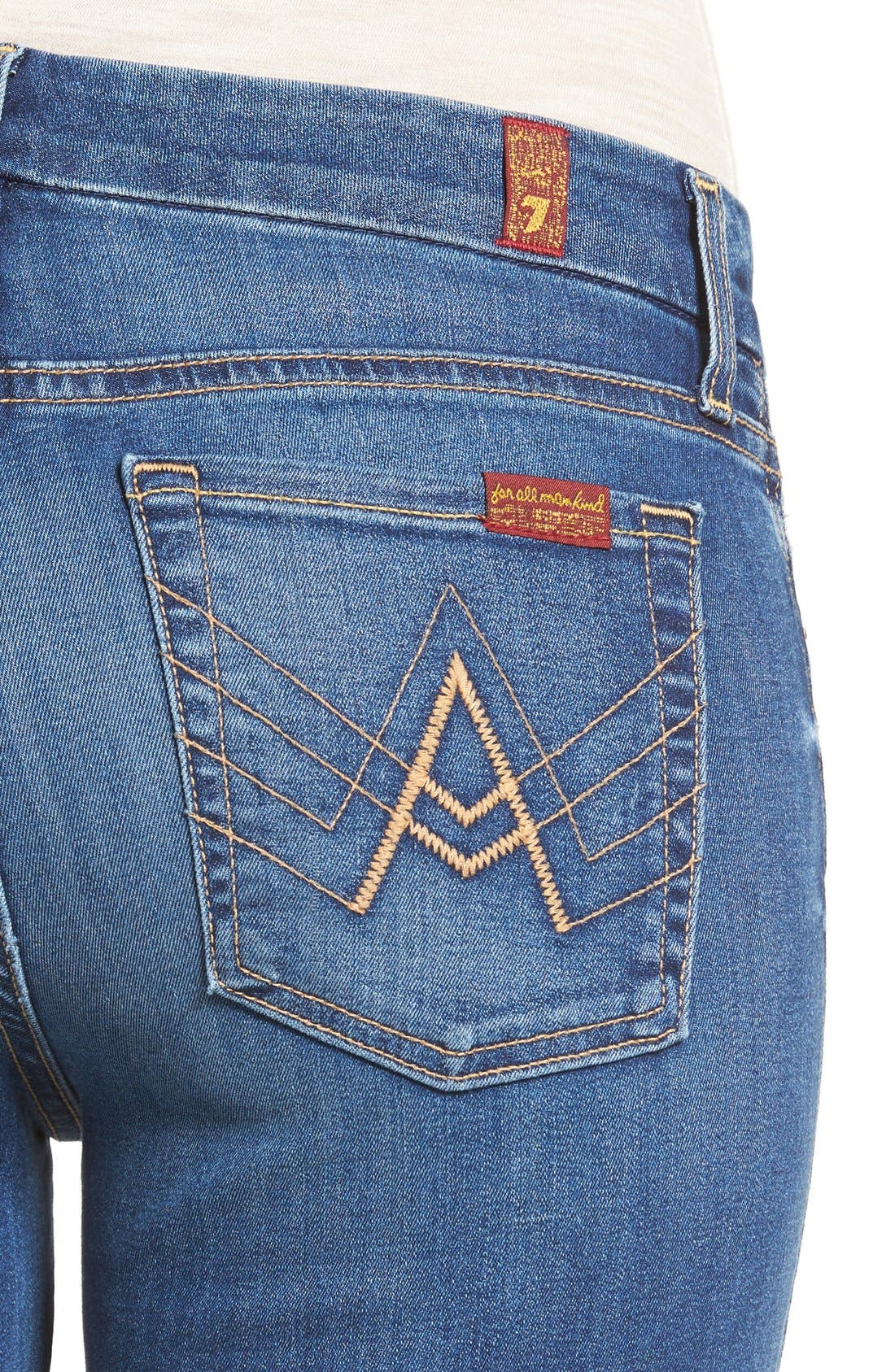 'b(air) - A Pocket' Flare Jeans,                             Alternate thumbnail 4, color,                             Reign