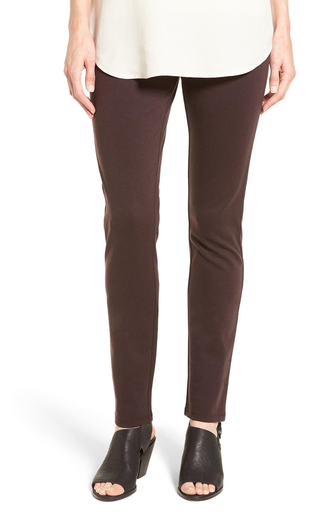 Main Image - Eileen Fisher Tencel® Blend Ponte Slim Leg Pants