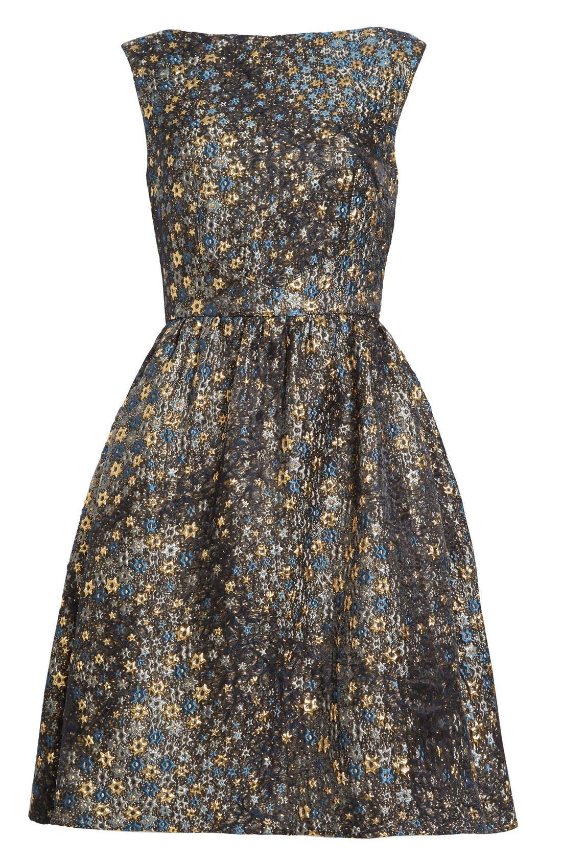 Alternate Image 4  - Erdem Star Jacquard Fit & Flare Dress