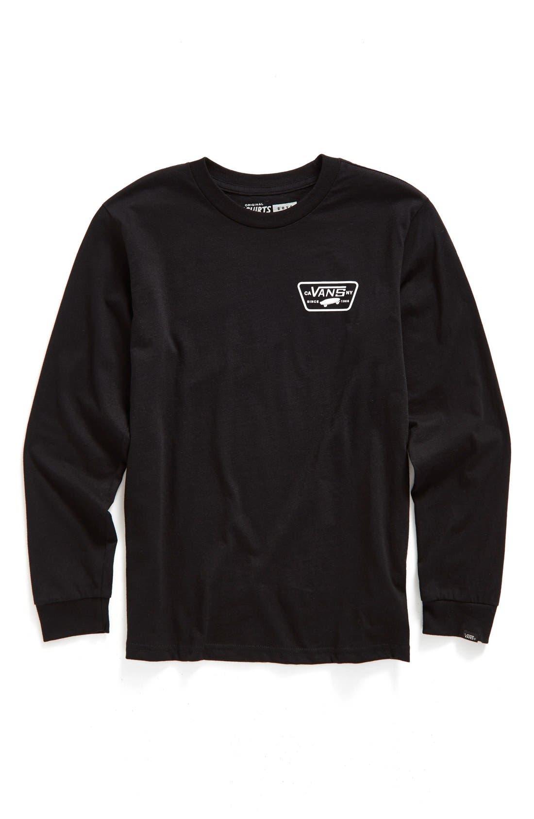 Vans 'Full Patch' Long Sleeve T-Shirt (Big Boys)