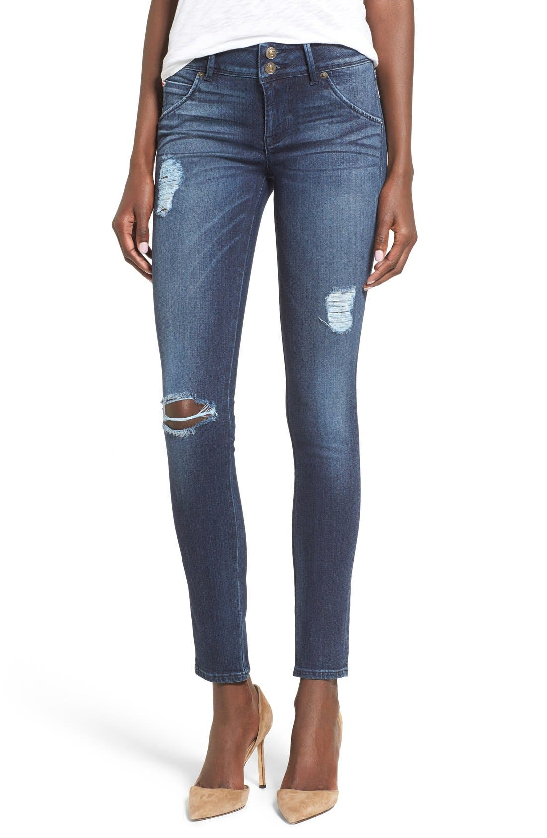 Main Image - Hudson Jeans 'Collin' Skinny Jeans (Anchor Light)