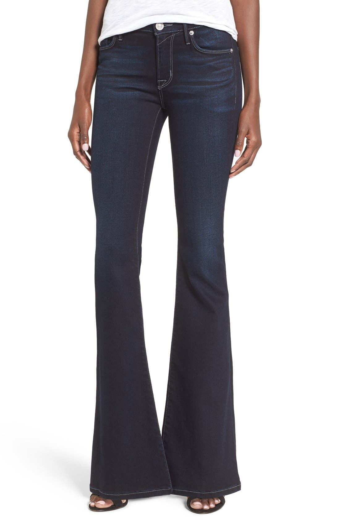 'Mia' Flare Jeans,                         Main,                         color, Night Vision