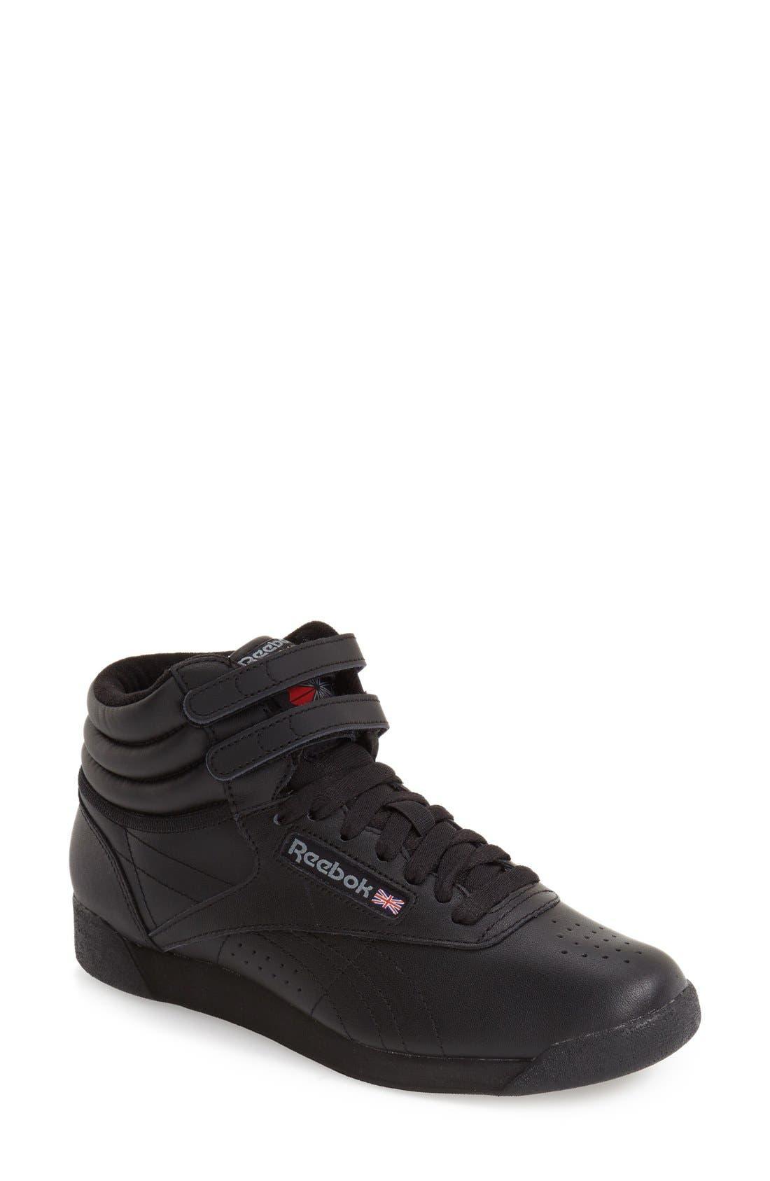 'Freestyle Hi' Sneaker,                             Main thumbnail 1, color,                             Black