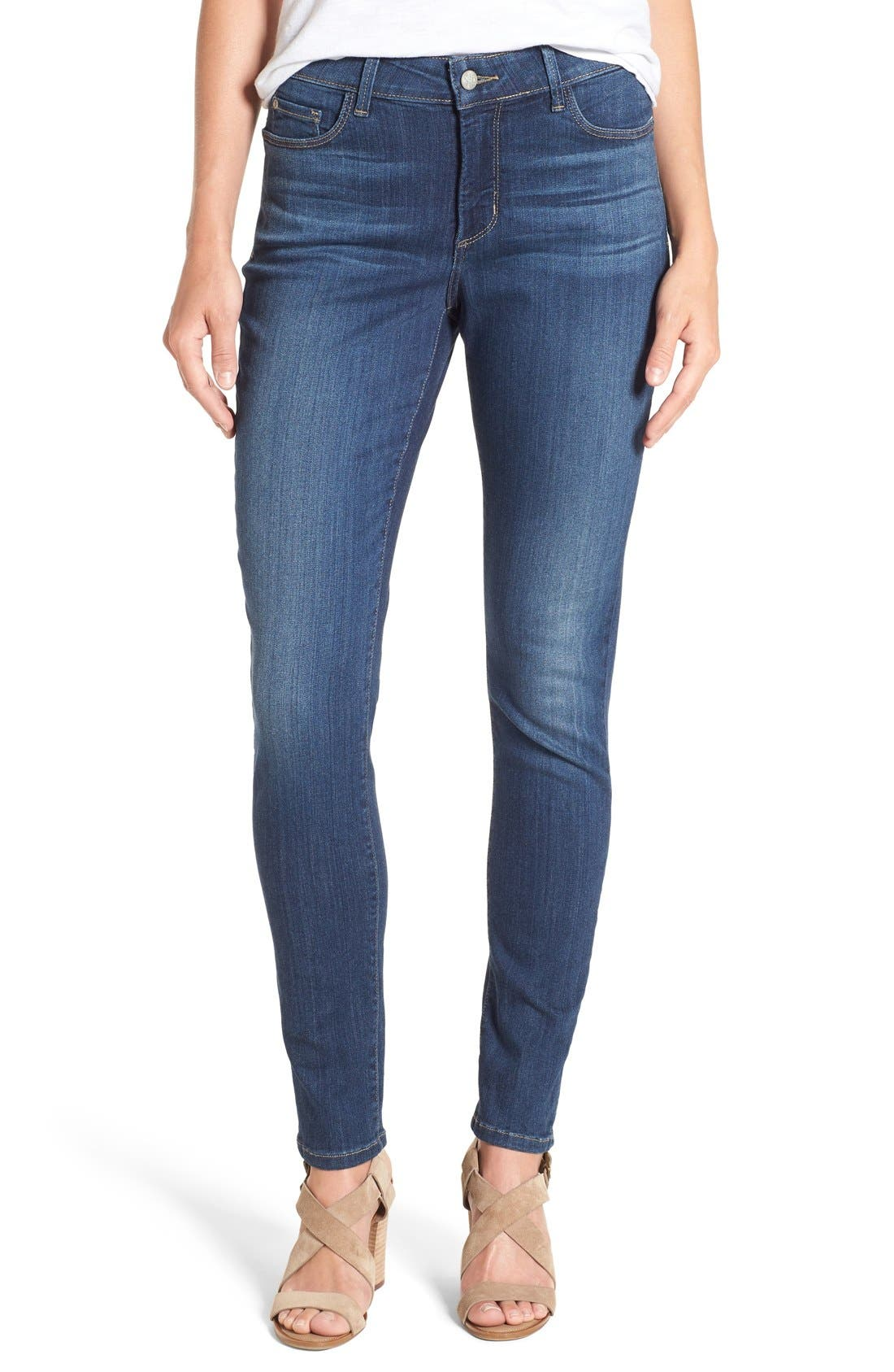 'Ami' Stretch Skinny Jeans,                             Main thumbnail 1, color,                             Saint Veran