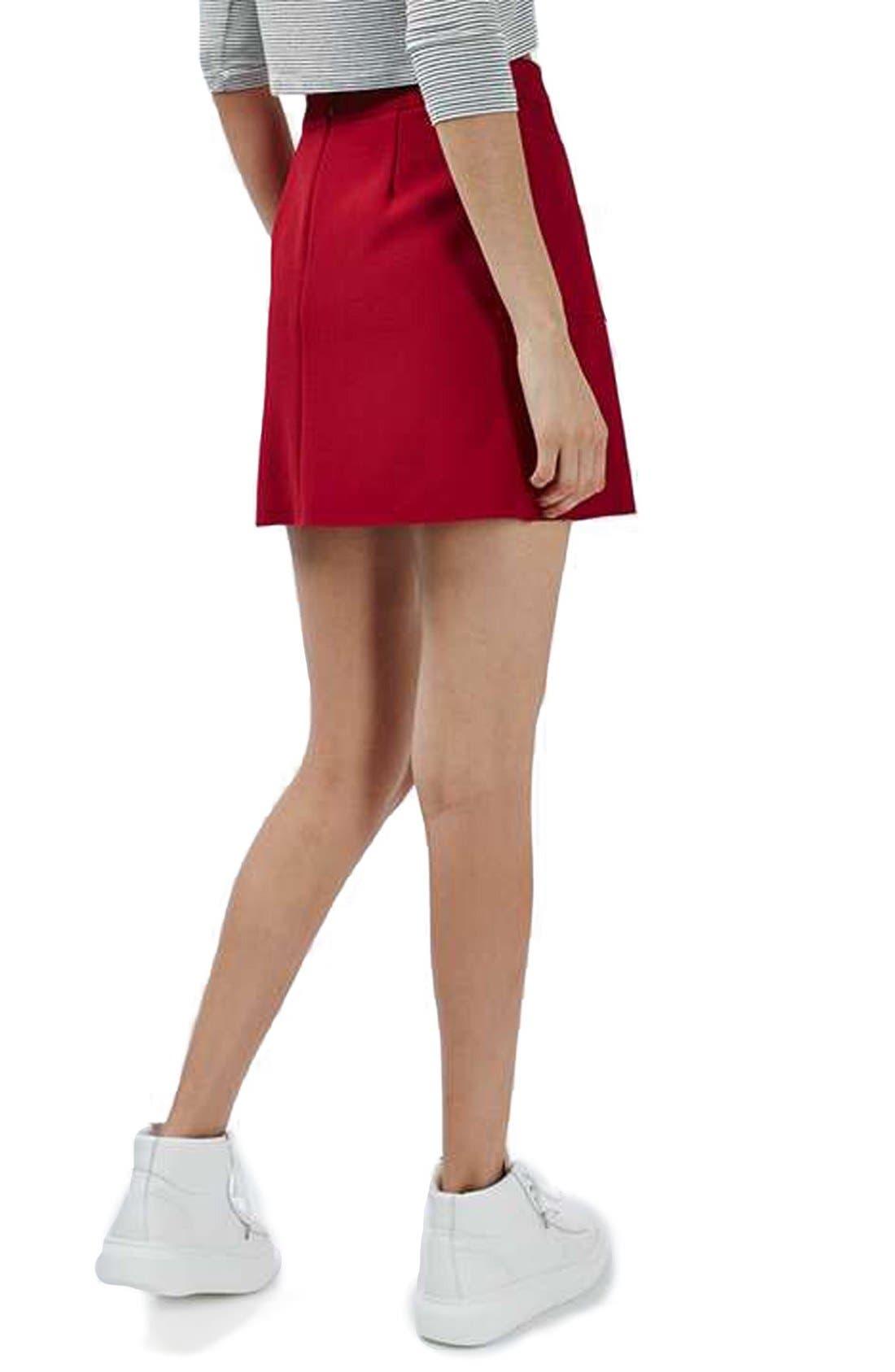 Alternate Image 3  - Topshop Patch Pocket Crepe Miniskirt