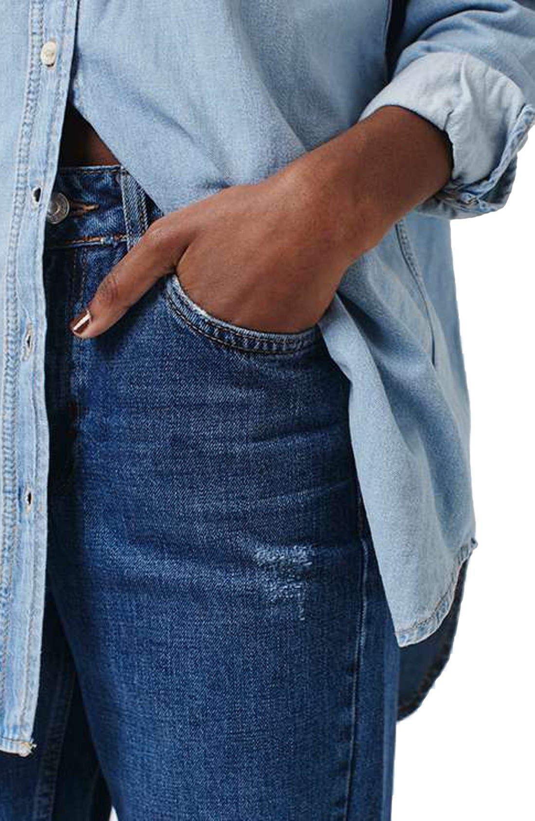 Alternate Image 4  - Topshop 'Mom' High Rise Jeans (Petite)
