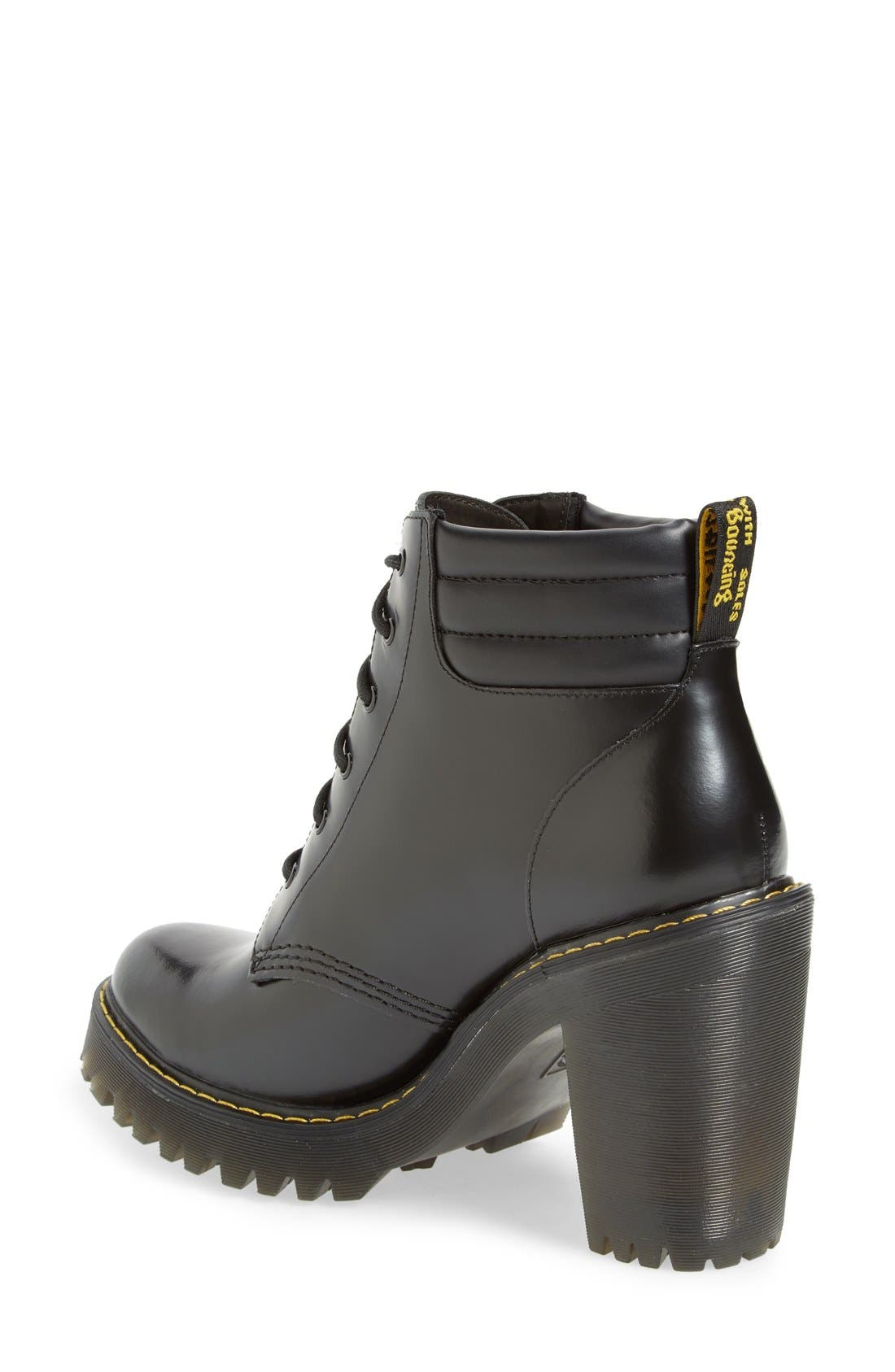 'Persephone' Platform Boot,                             Alternate thumbnail 2, color,                             Black