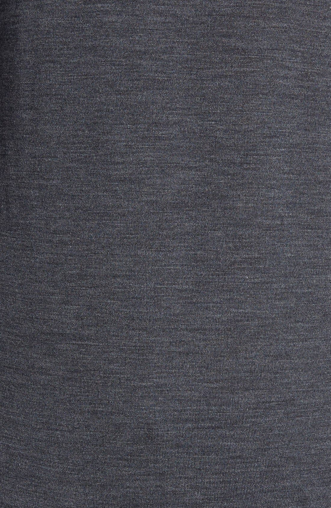 'Richards' Easy Fit Turtleneck Wool Sweater,                             Alternate thumbnail 7, color,                             Charcoal