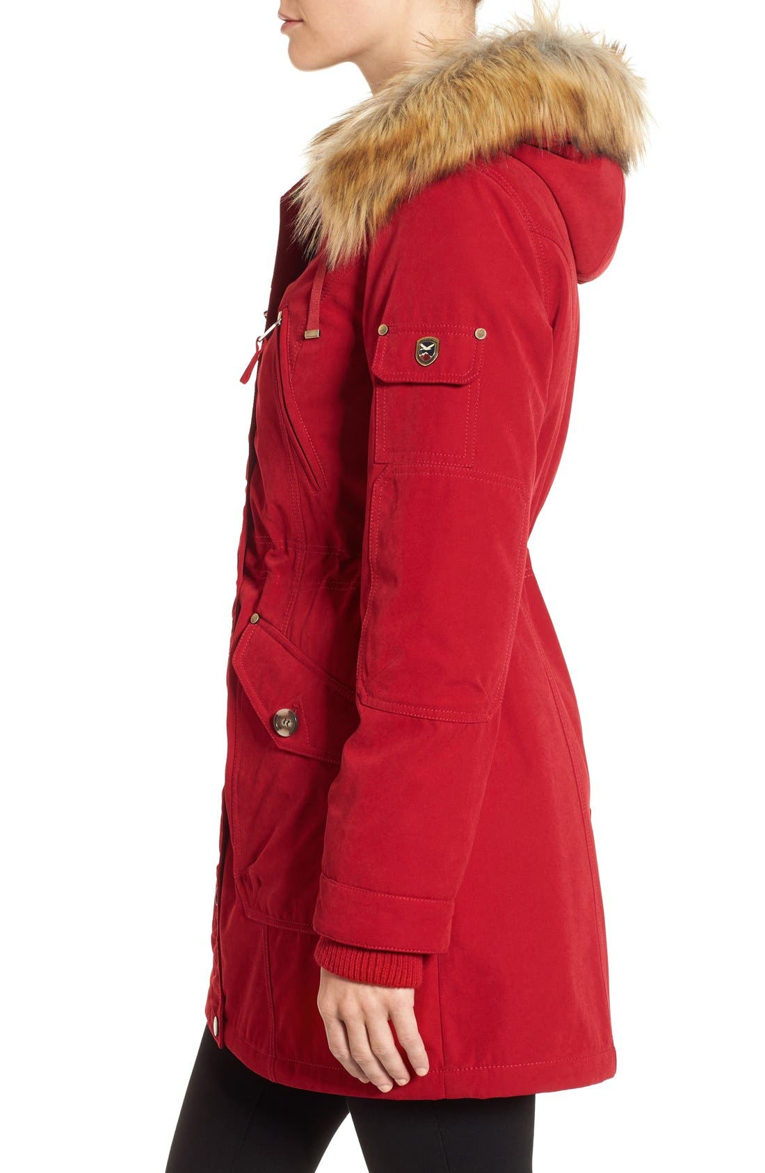 Alternate Image 3  - 1 Madison Parka with Faux Fur Trim Hood