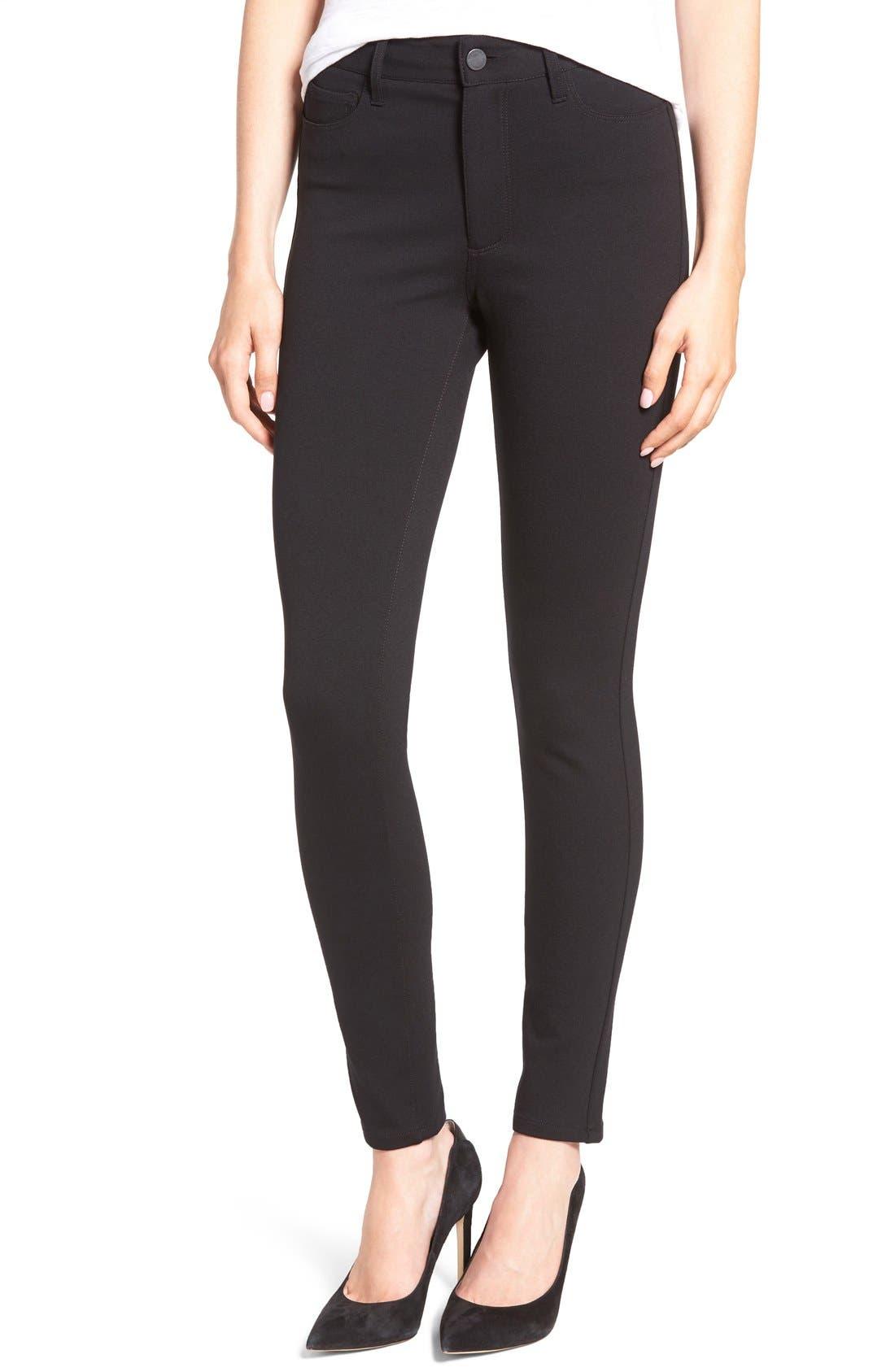 Hoxton Ankle Ponte Pants,                         Main,                         color, Black