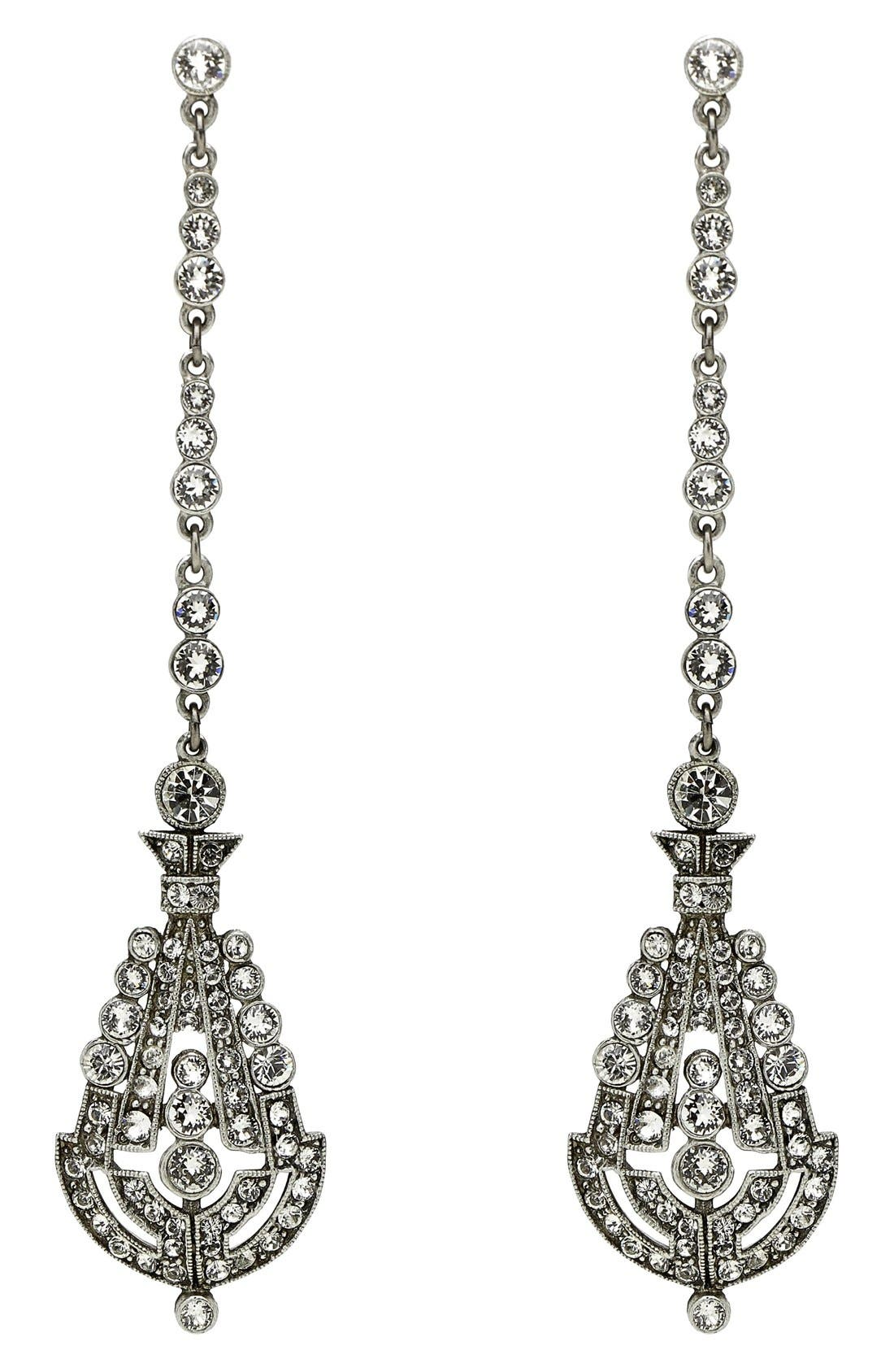 BEN-AMUN Deco Crystal Drop Earrings