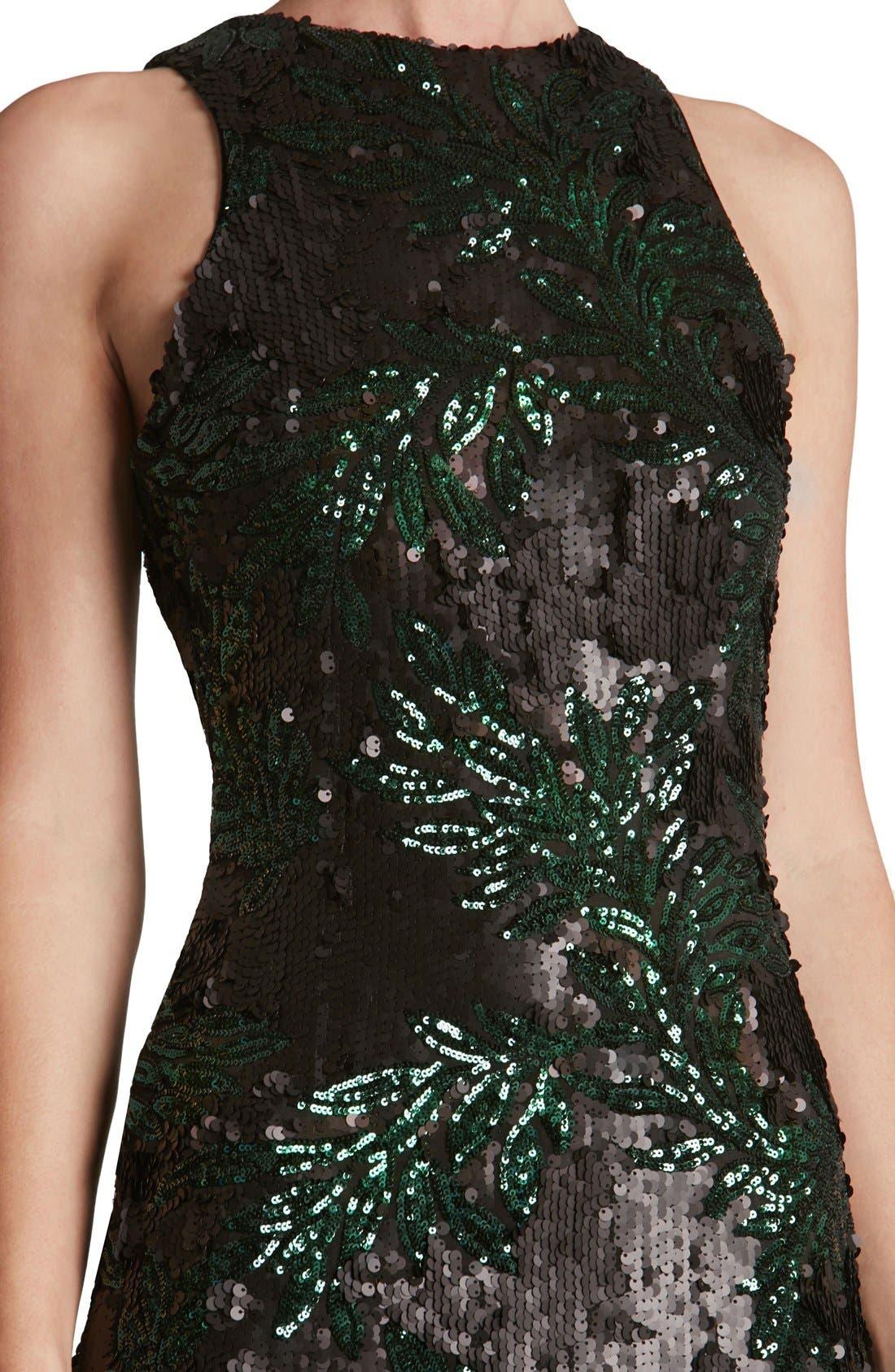 Alternate Image 5  - Dress the Population 'Shawn' Sequin Midi Dress
