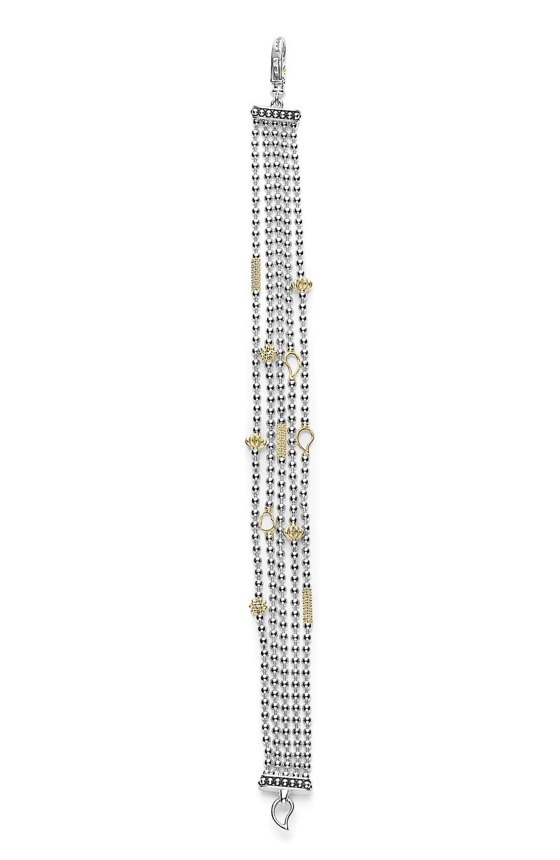 'Caviar Icon' Multistrand Bracelet,                             Alternate thumbnail 2, color,                             Silver/ Gold