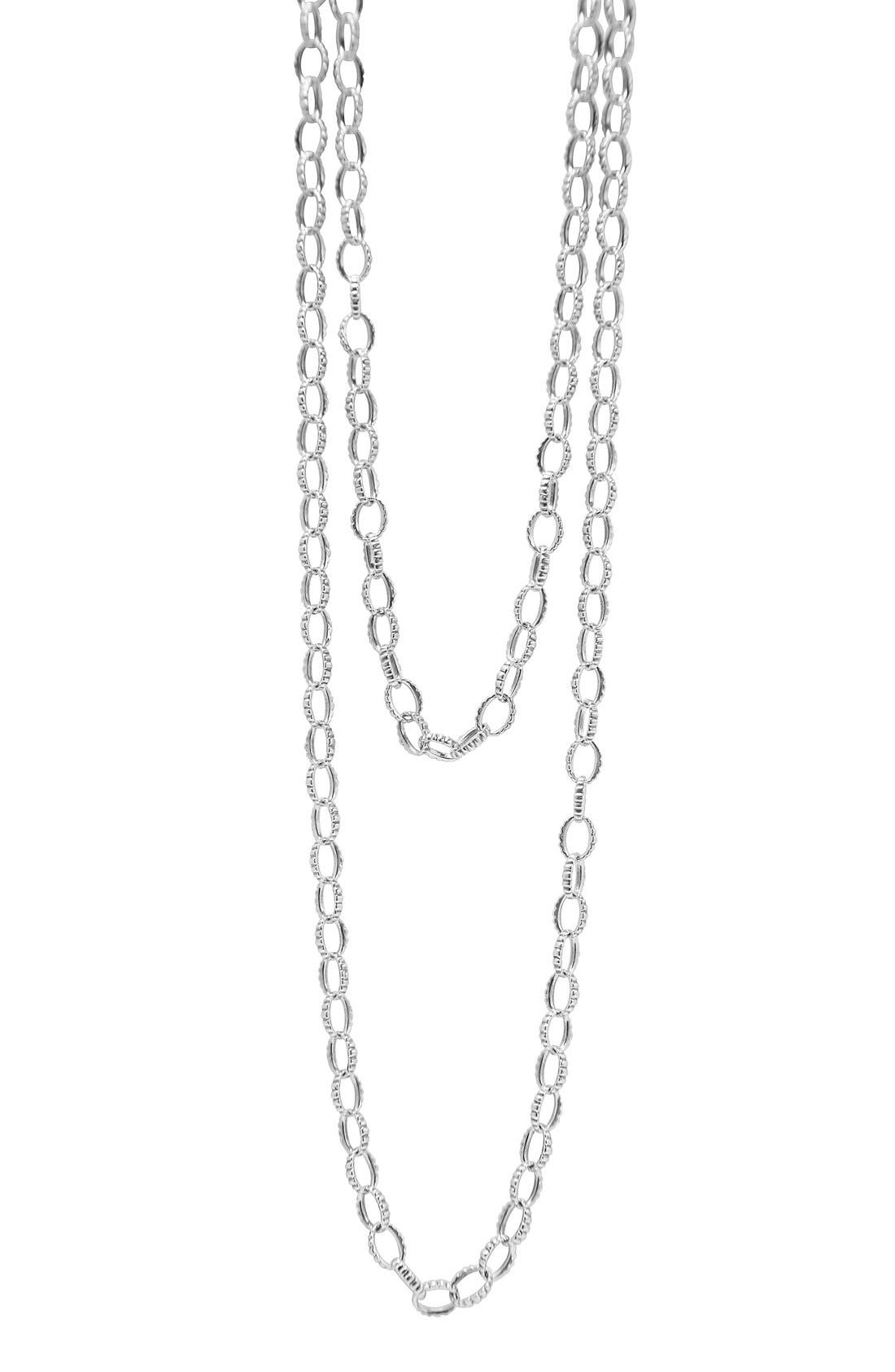 Long Link Necklace,                         Main,                         color, Sterling Silver