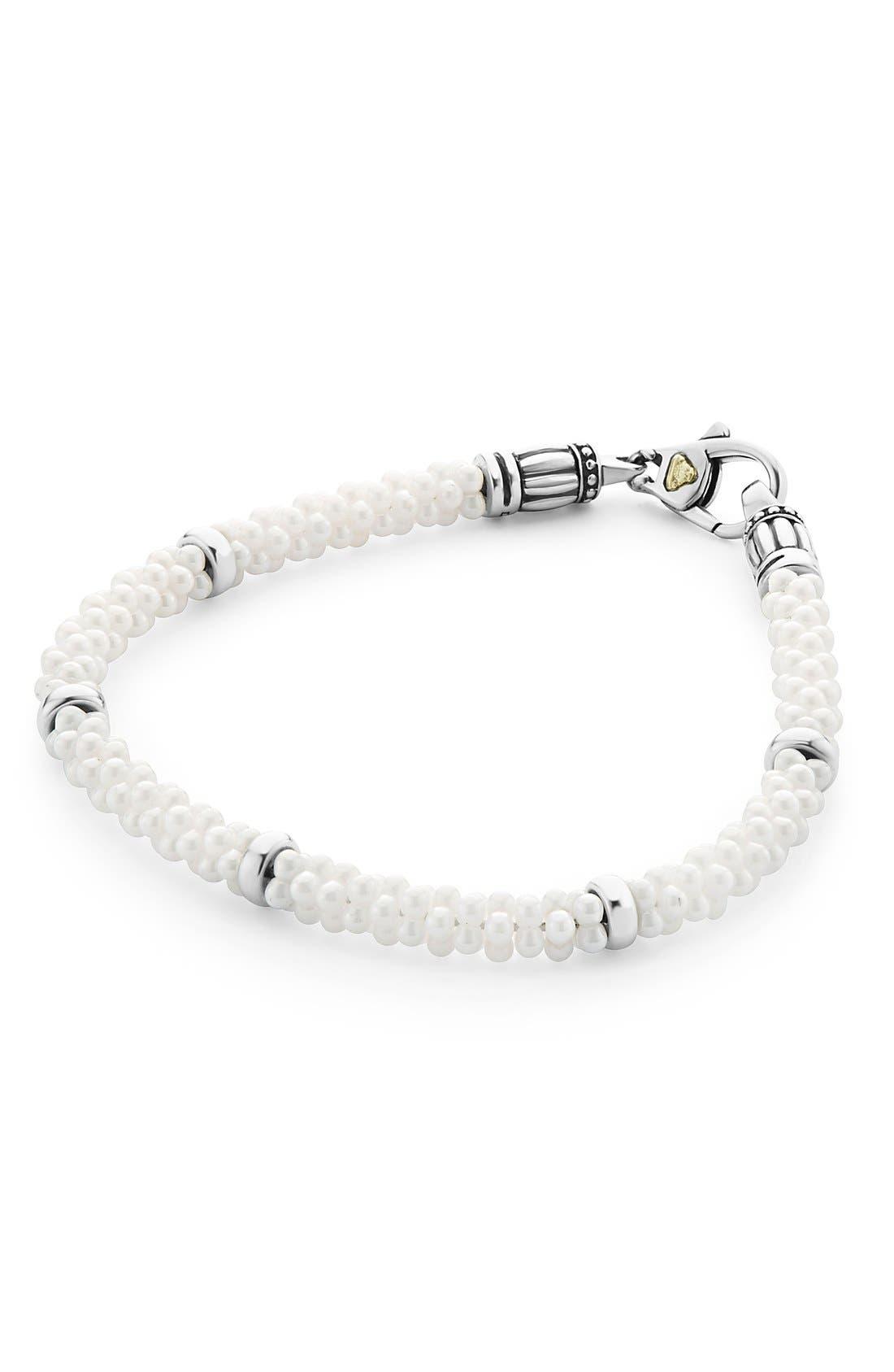 Alternate Image 1 Selected - LAGOS 'Black & White Caviar' Bracelet