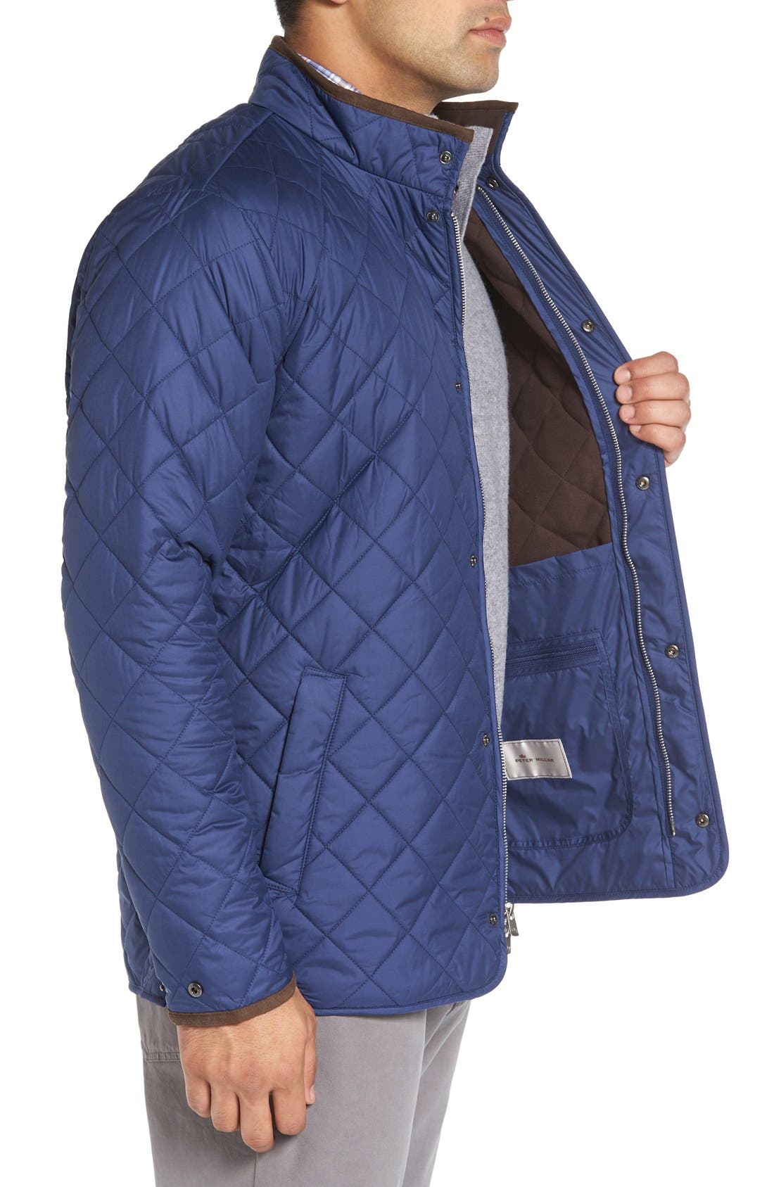 Alternate Image 3  - Peter Millar Norfolk Water Resistant Quilted Jacket