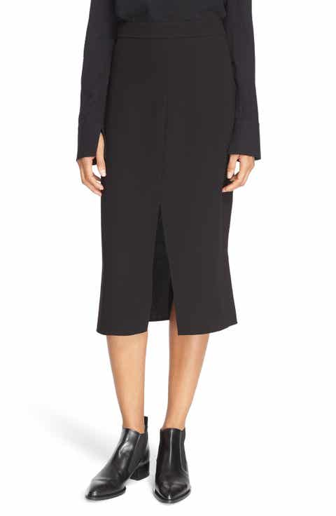 Tibi Double Slit Crepe Skirt