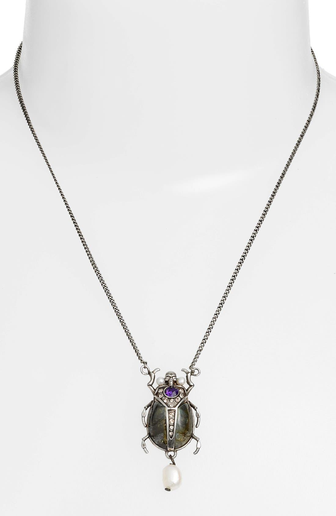 Alternate Image 2  - Alexander McQueen Beetle Pendant Necklace