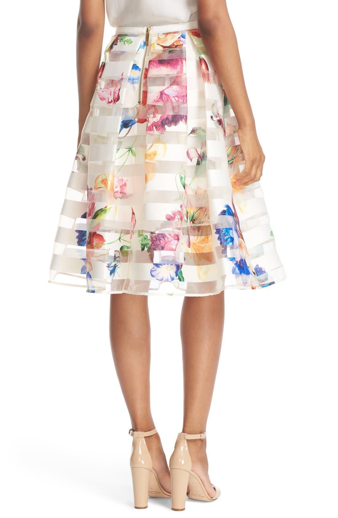 Alternate Image 2  - Ted Baker London 'Hoona' Burnout Stripe Pleated Skirt