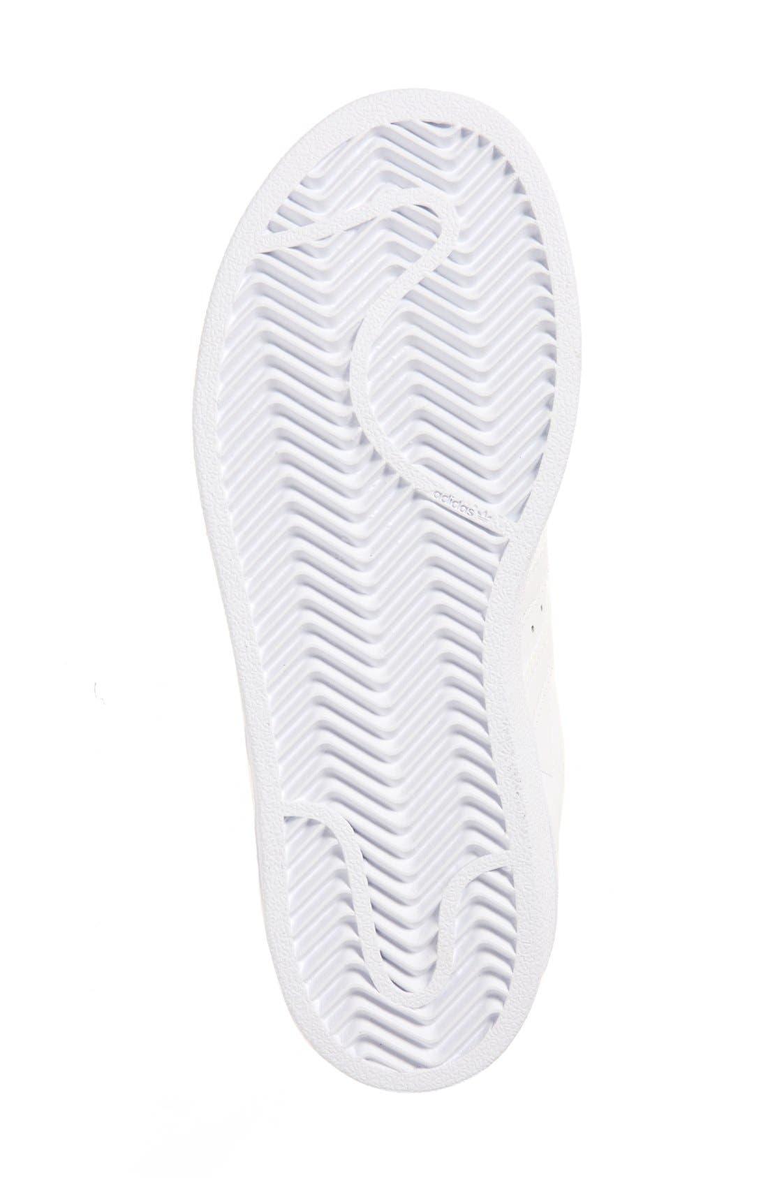'Superstar Foundation' Sneaker,                             Alternate thumbnail 4, color,                             White/ White