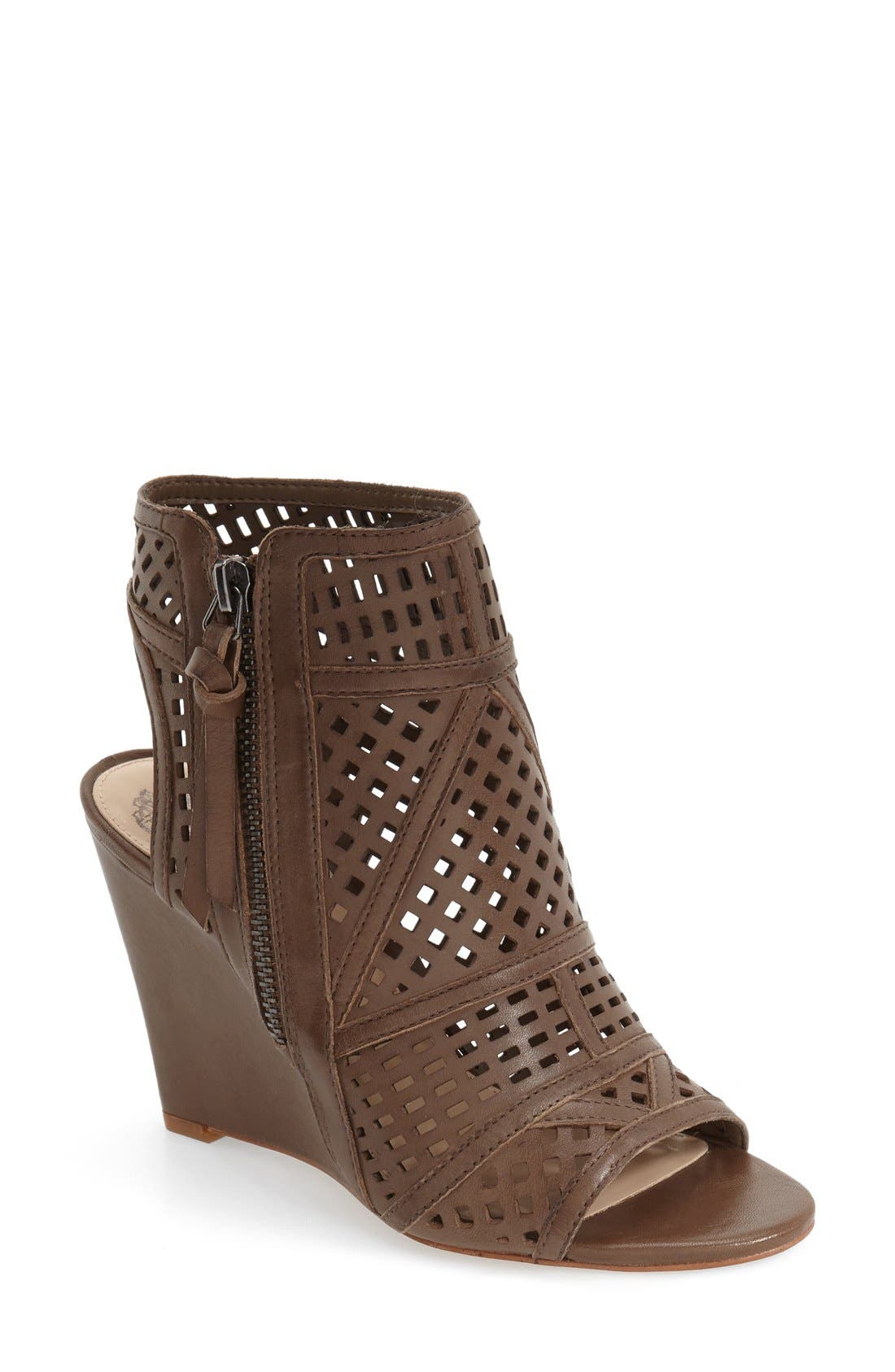 Alternate Image 1 Selected - Vince Camuto 'Xabrina' Perforated Wedge Sandal (Women)