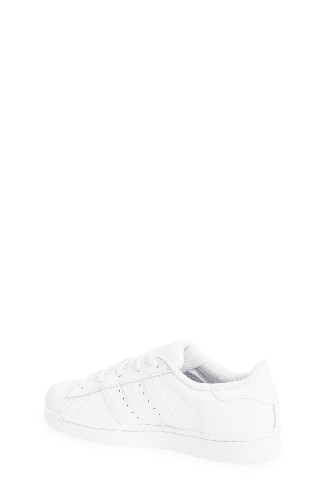 'Superstar Foundation' Sneaker,                             Alternate thumbnail 2, color,                             White/ White