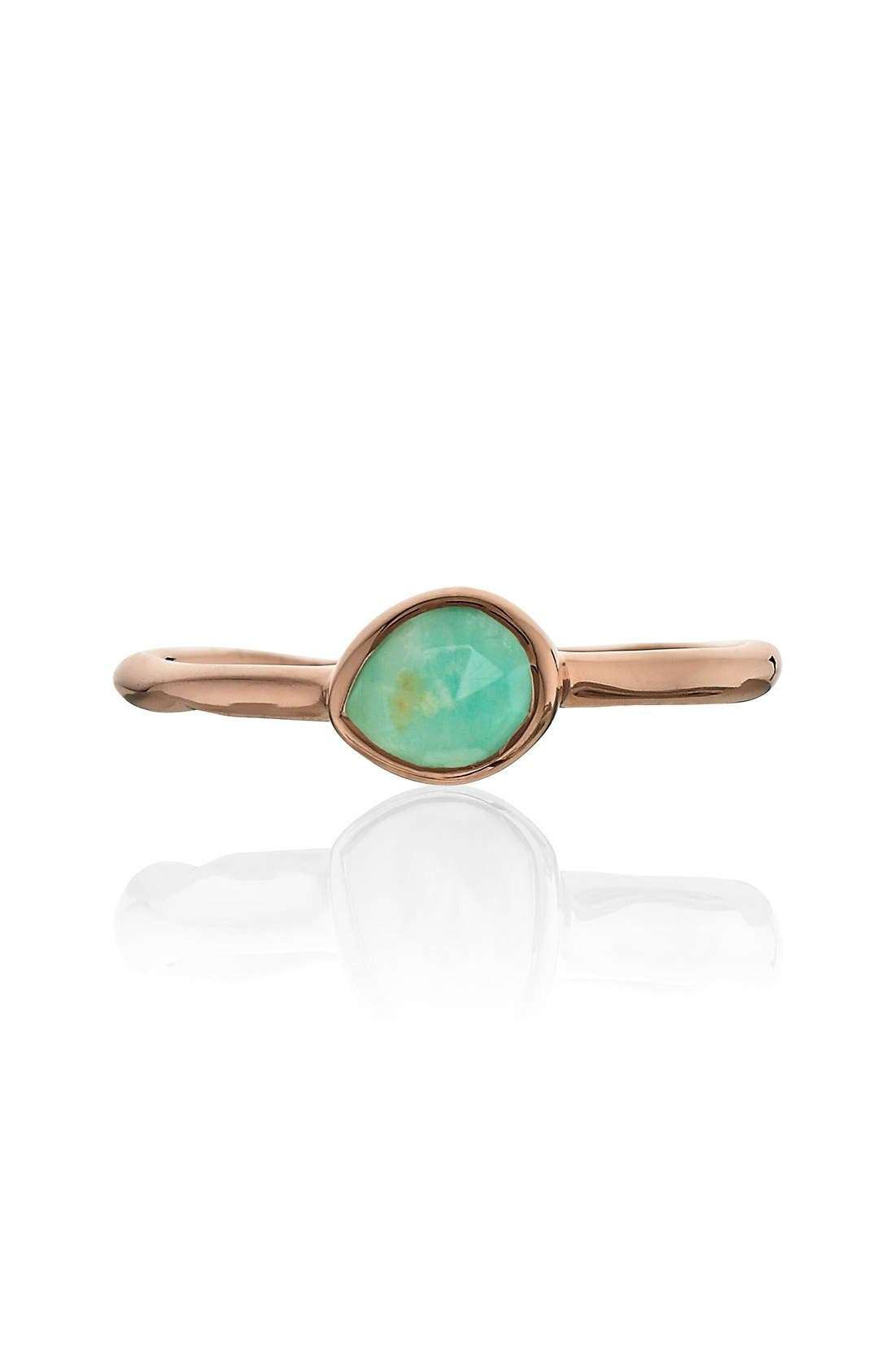'Siren' Small Stacking Ring,                             Alternate thumbnail 4, color,                             Amazonite/ Rose Gold