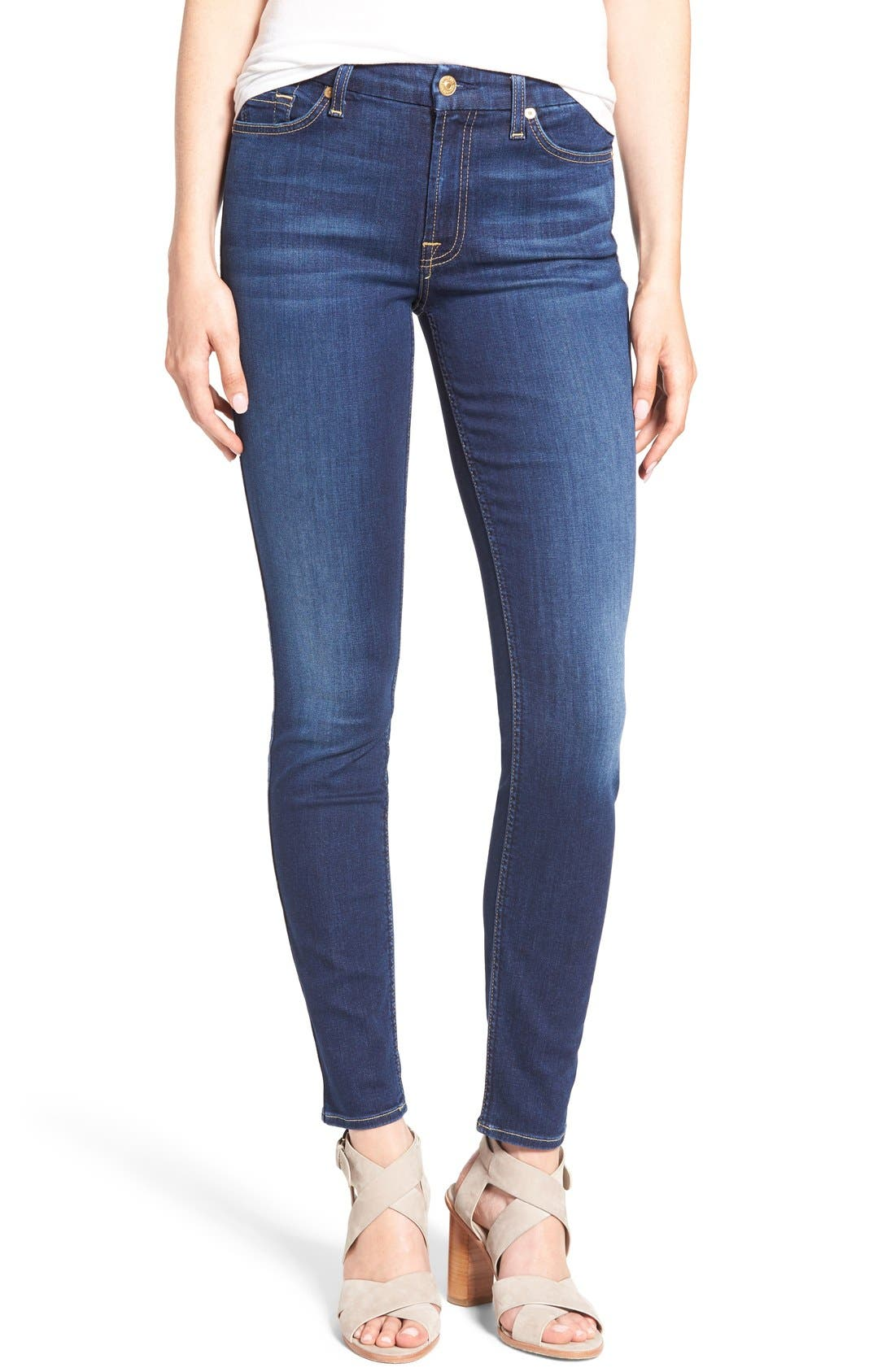 Main Image - 7 For All Mankind® 'b(air) - The Skinny' Skinny Jeans
