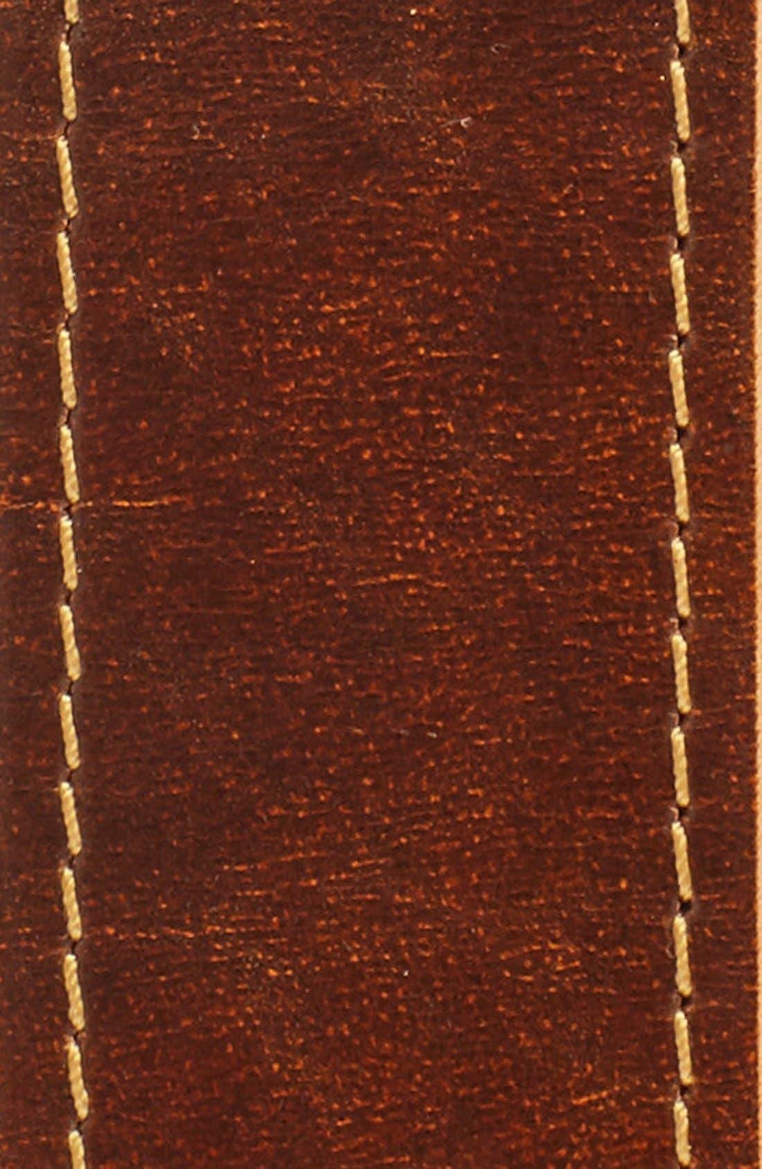Leather Belt,                             Alternate thumbnail 3, color,                             Brown