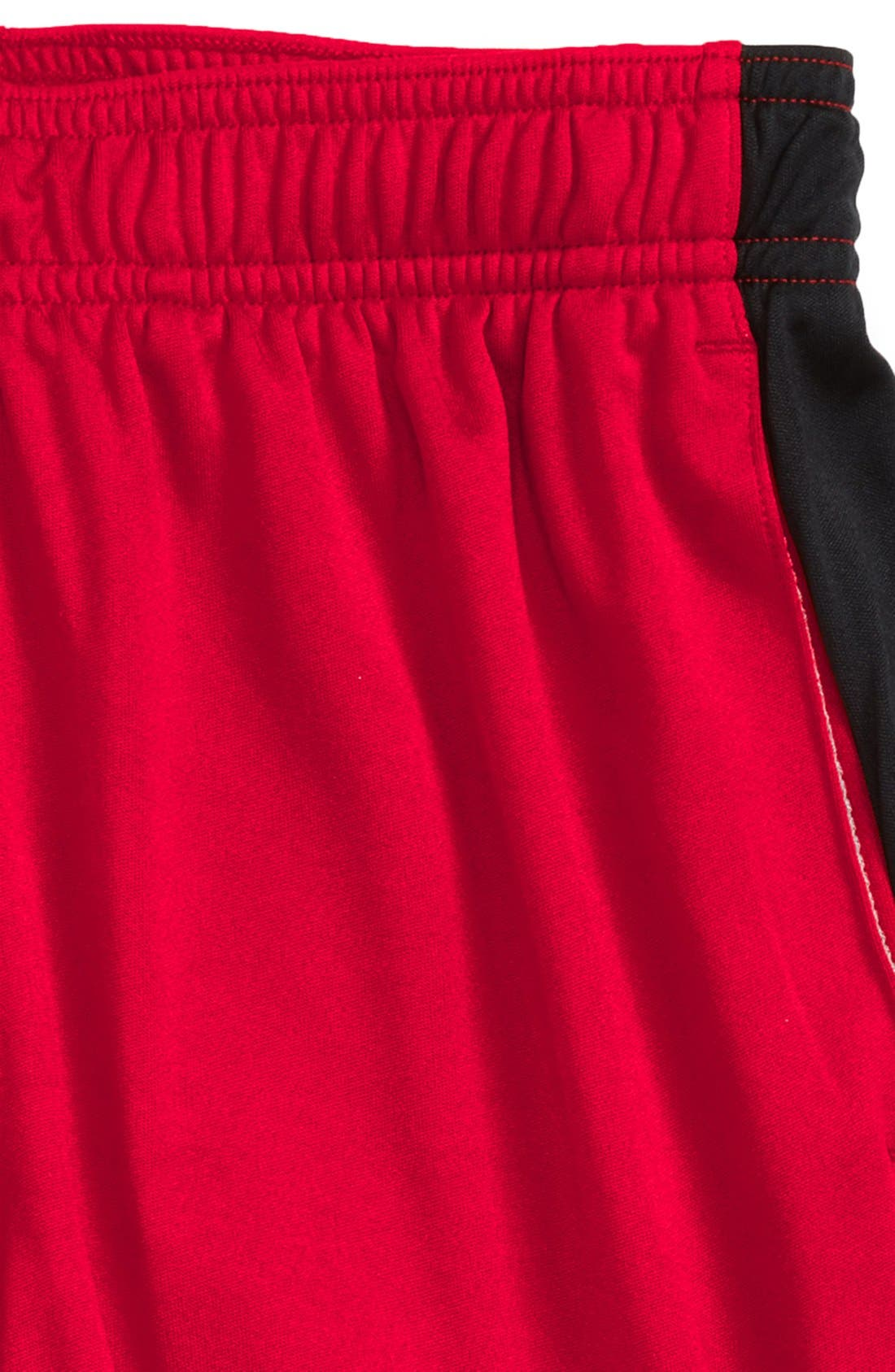 'Eliminator' HeatGear<sup>®</sup> Shorts,                             Alternate thumbnail 2, color,                             Red/ Black/ Black