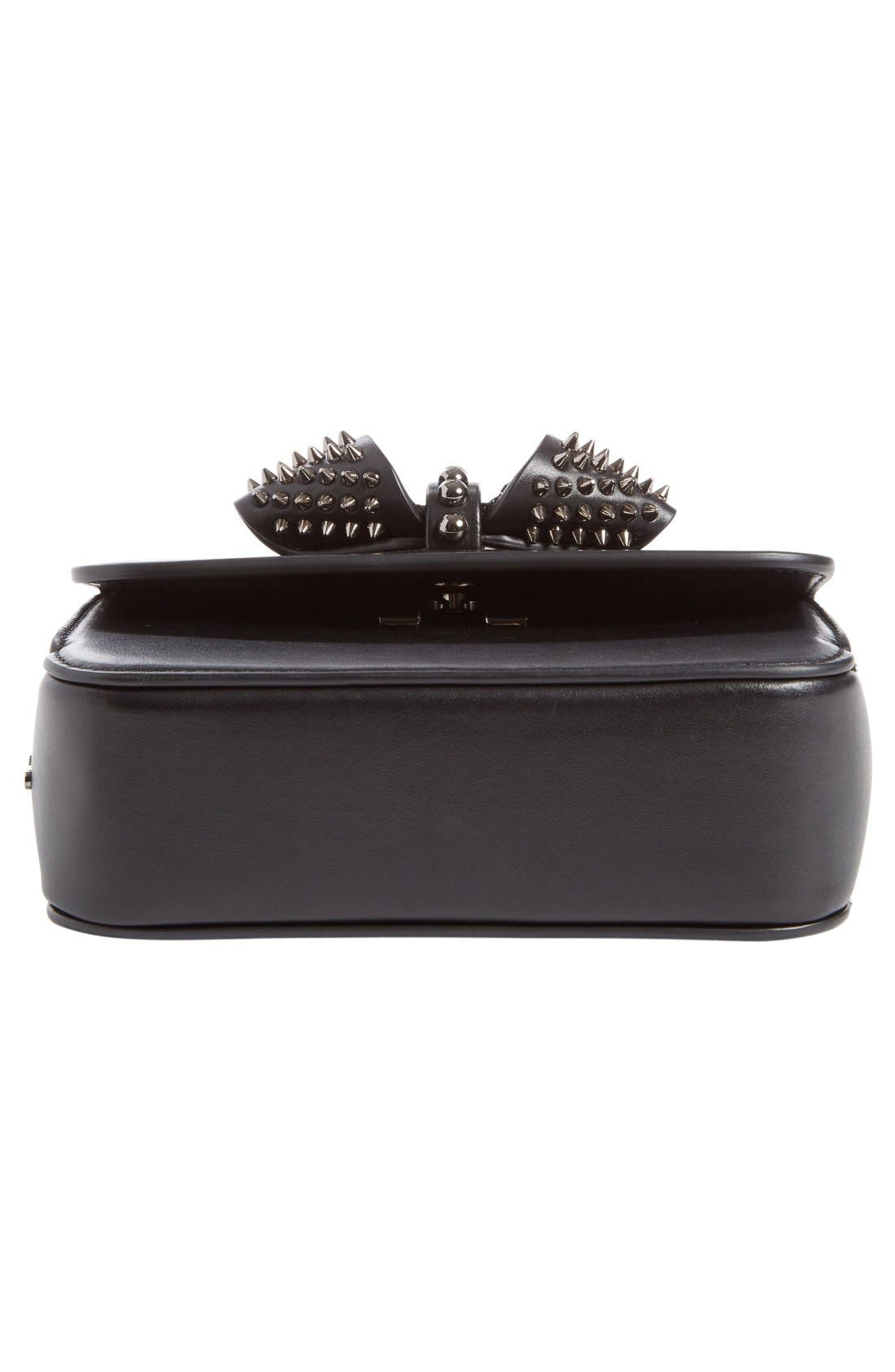 Alternate Image 5  - Christian Louboutin 'Mini Sweet Charity' Spiked Calfskin Shoulder/Crossbody Bag