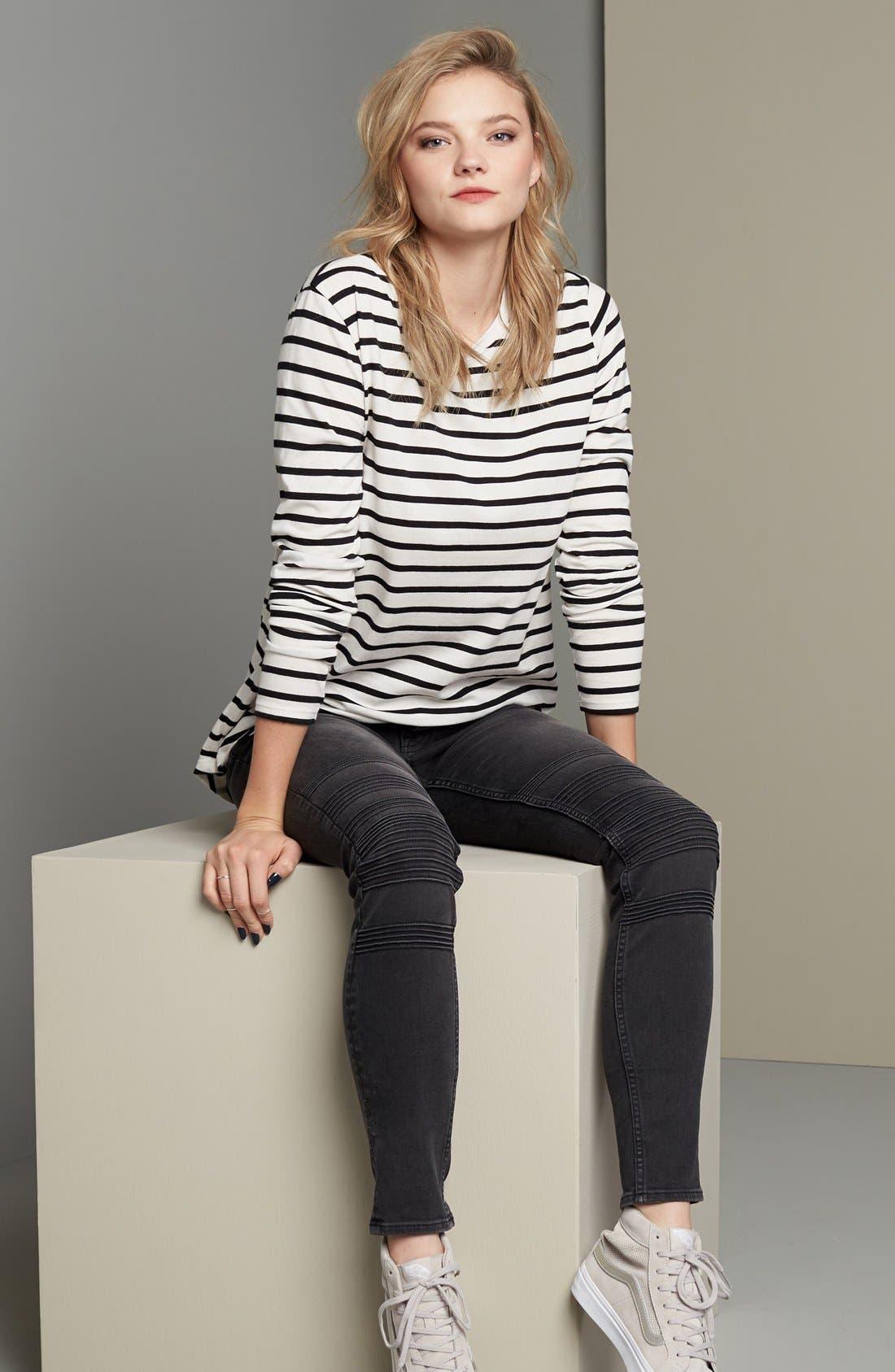 Alternate Image 2  - Vigoss 'Chelsea' Moto Skinny Jeans