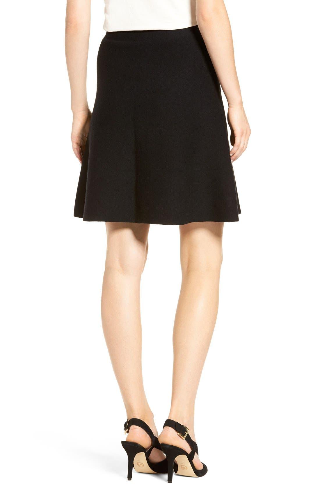 Alternate Image 3  - Halogen® Knit Skater Skirt (Regular & Petite)