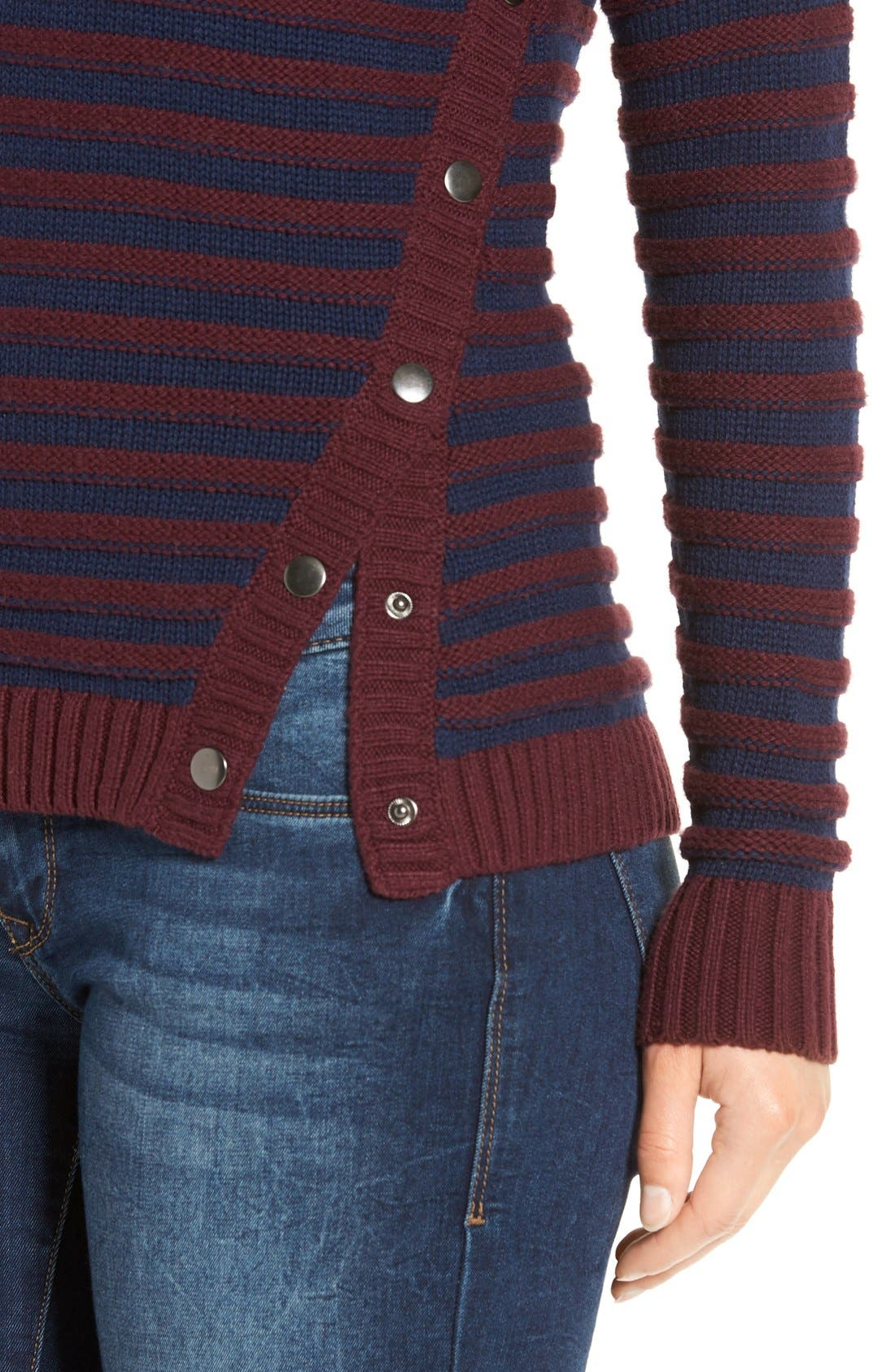 Alternate Image 4  - Caslon® Side Snap Sweater (Regular & Petite)