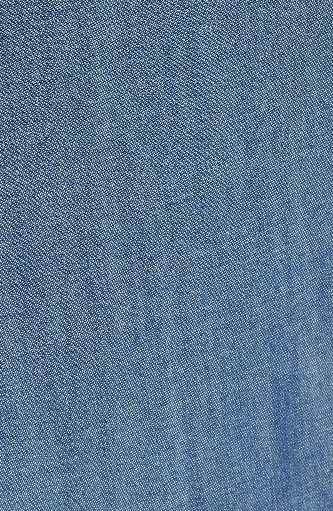 Alternate Image 5  - Side Stitch A-Line Denim Shirtdress