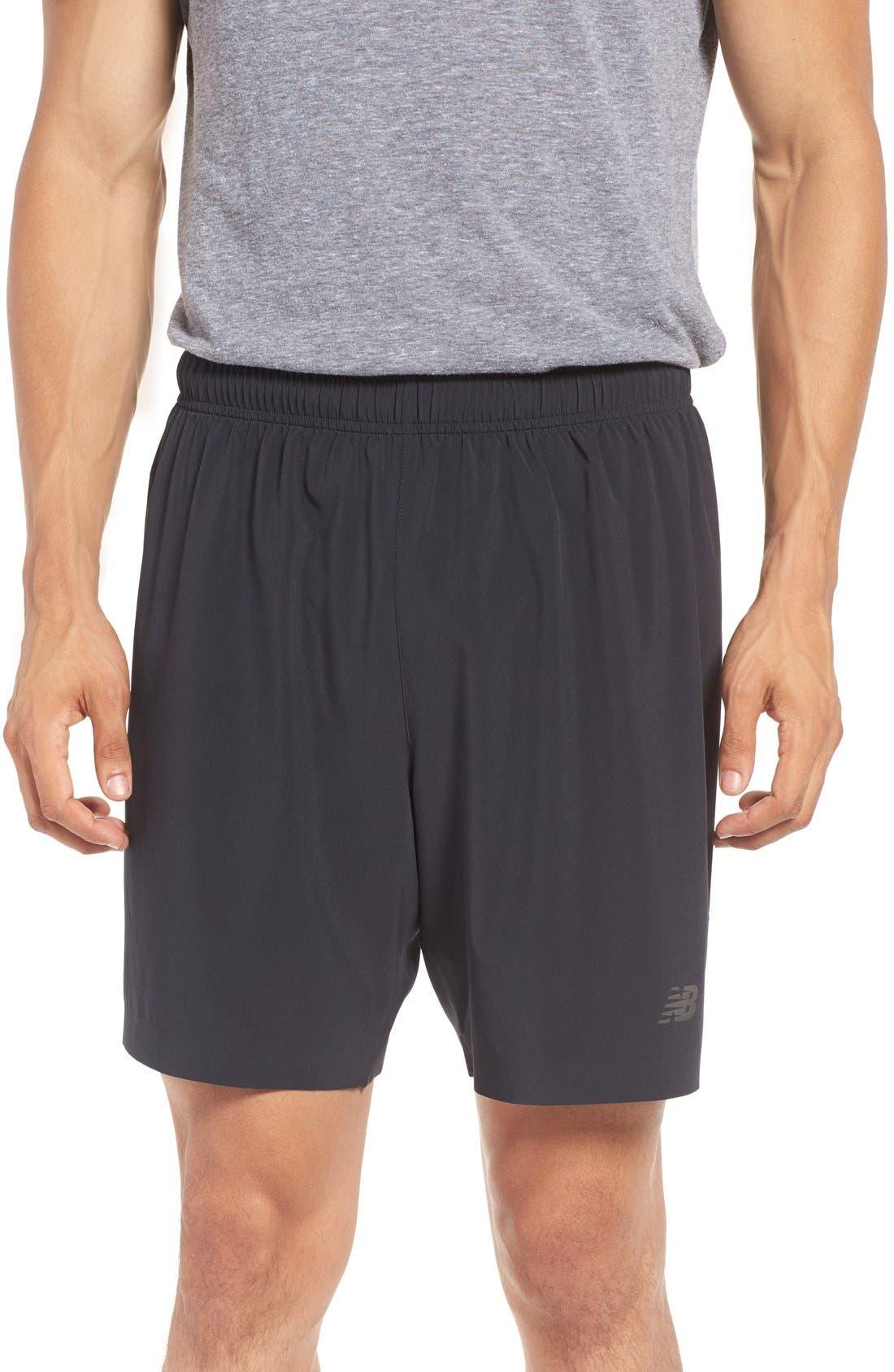 'Shift' Athletic Fit Training Shorts,                             Main thumbnail 1, color,                             Black
