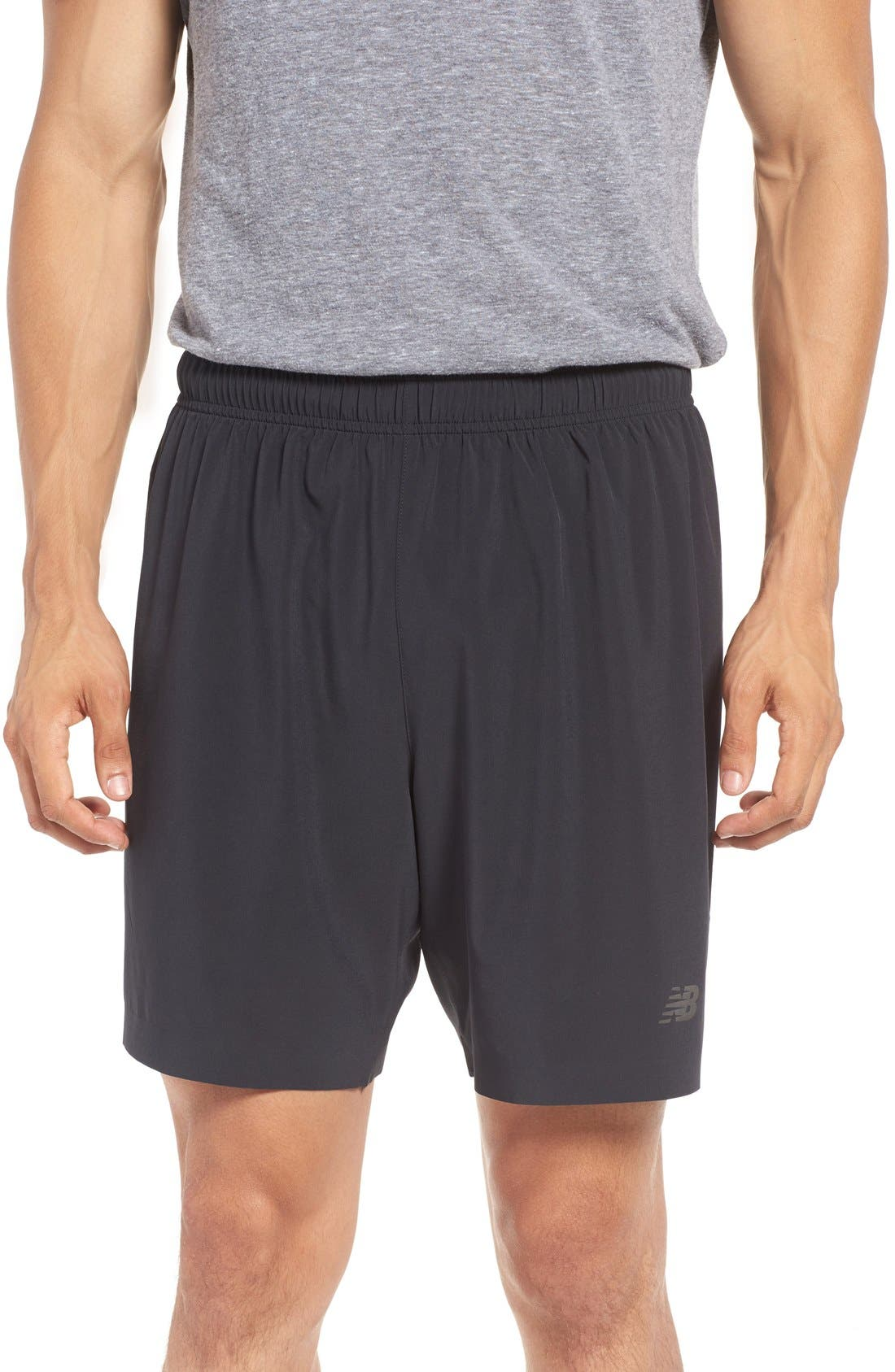 'Shift' Athletic Fit Training Shorts,                         Main,                         color, Black