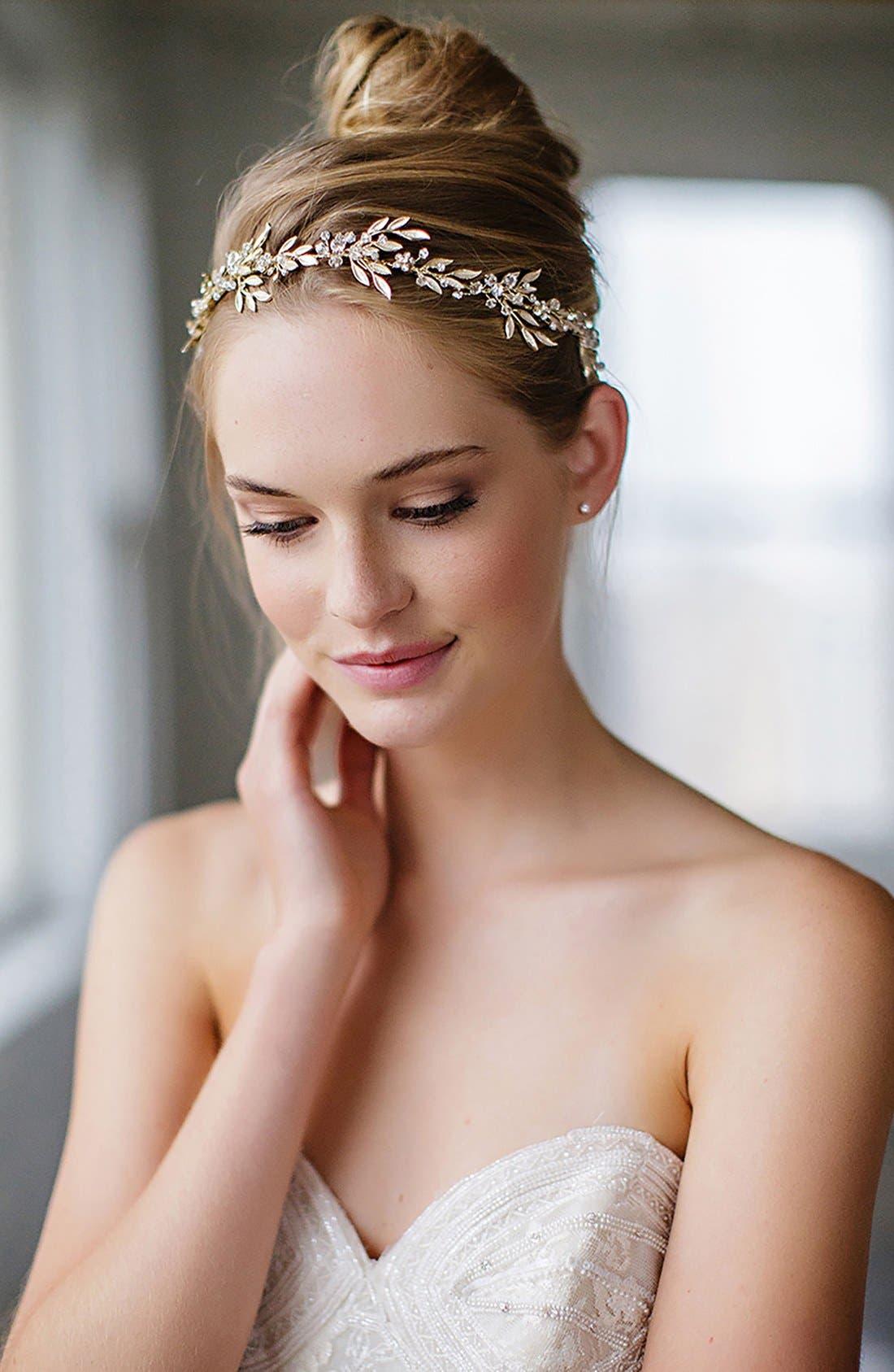 BRIDES & HAIRPINS Avalon Leaf Halo & Sash