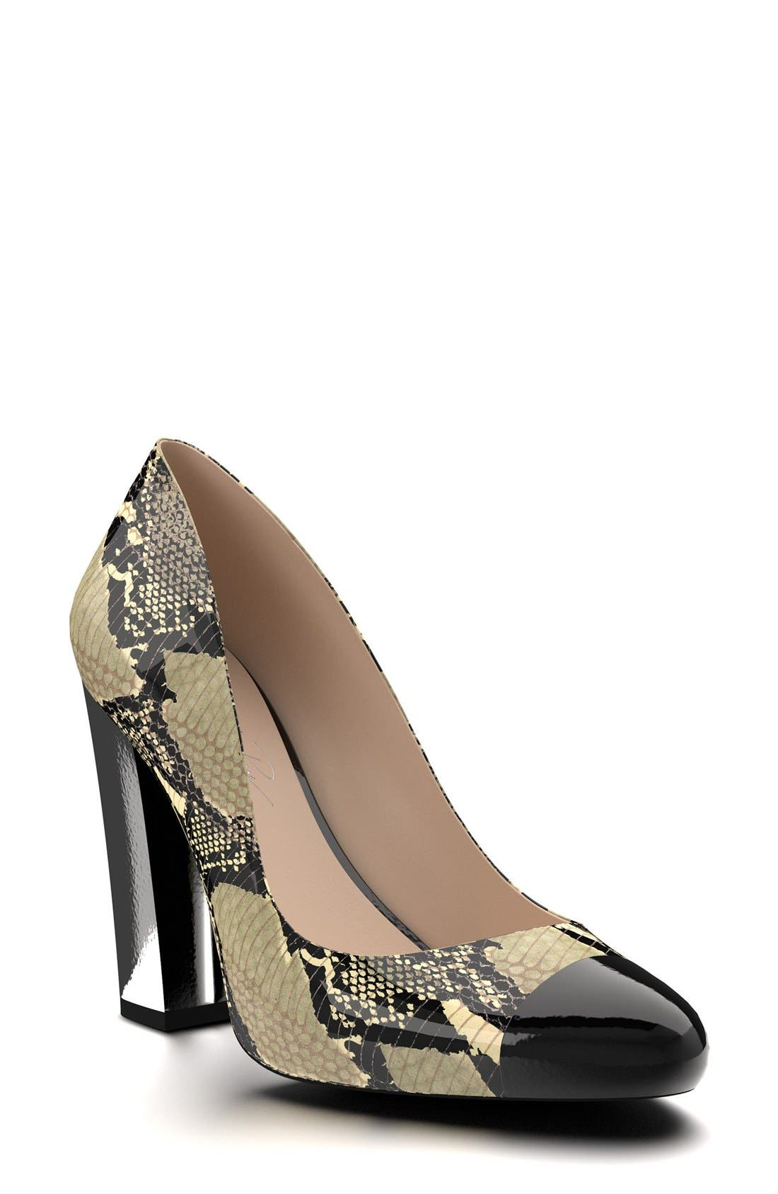 Shoes of Prey Cap Toe Block Heel Pump (Women)