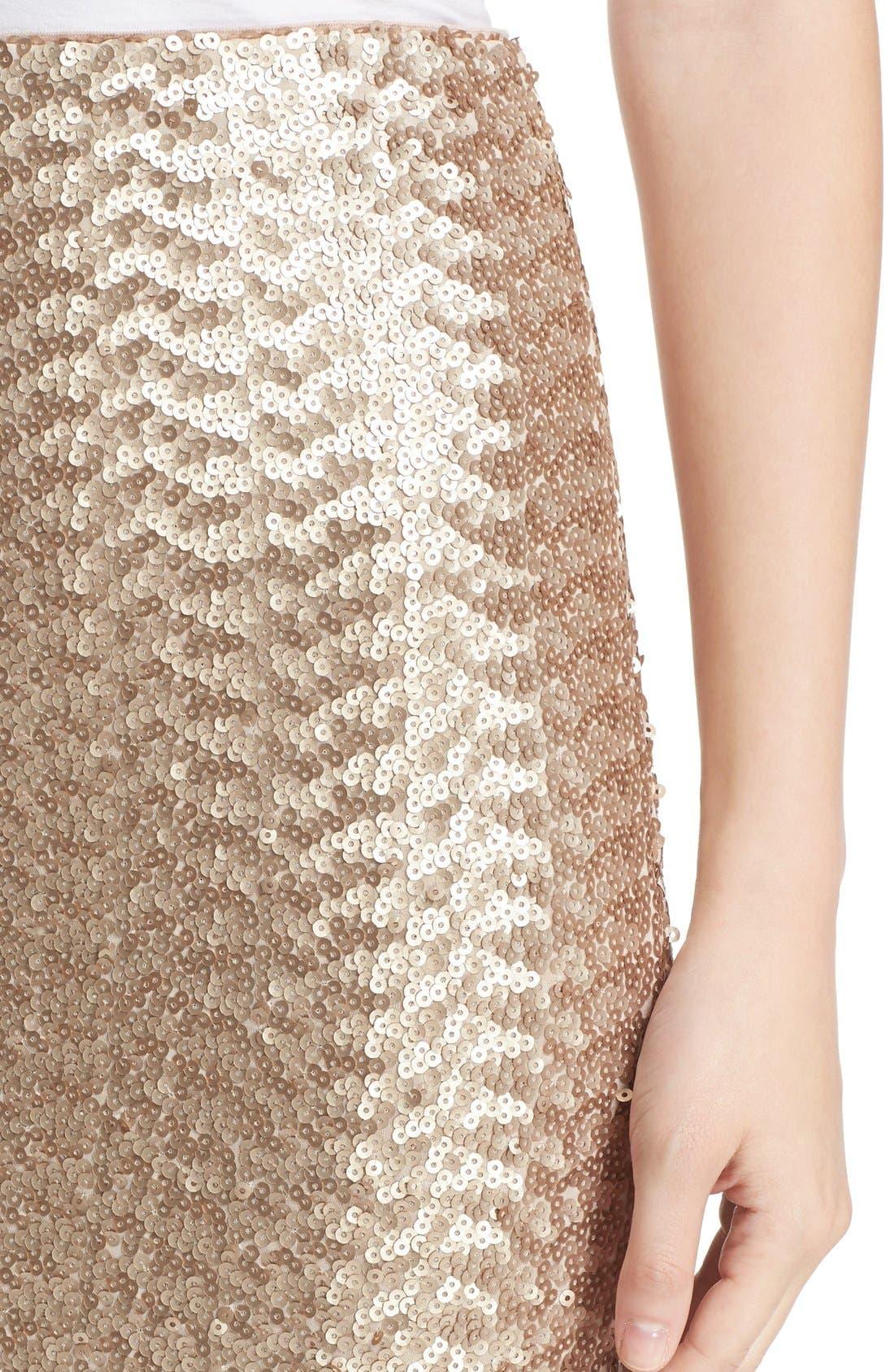 Alternate Image 5  - Alice + Olivia 'Ramos' Sequin Pencil Skirt
