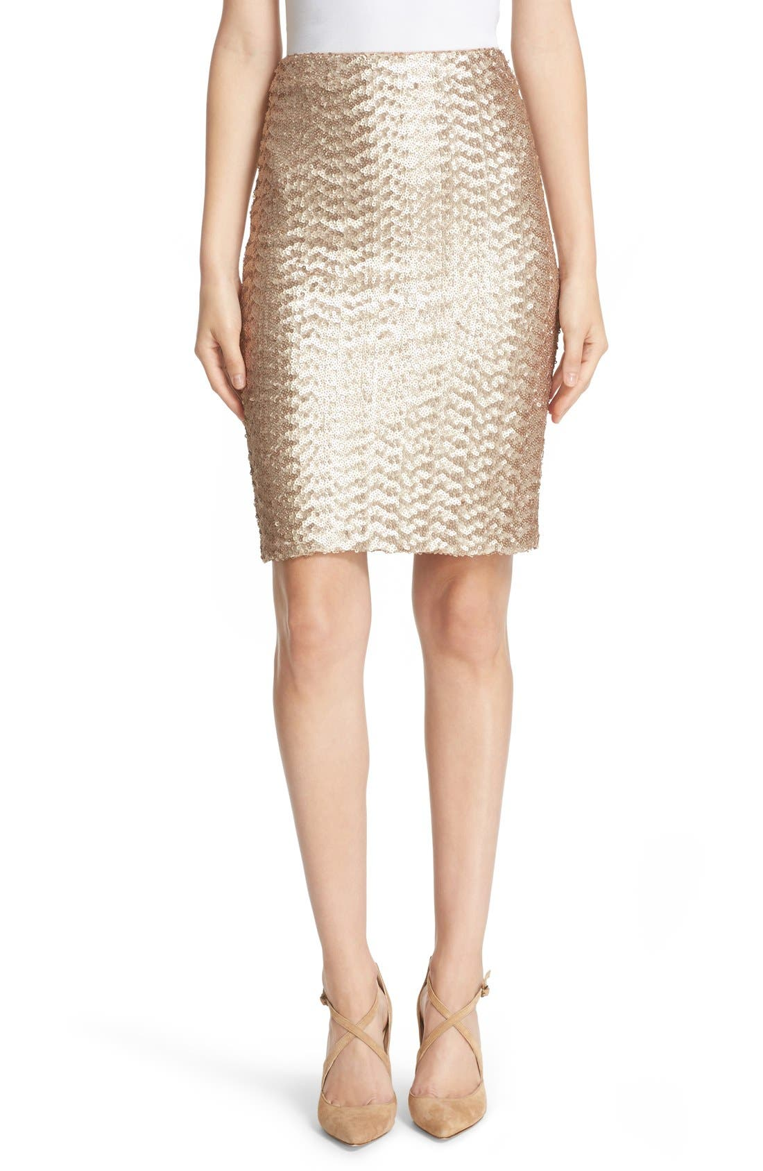 Main Image - Alice + Olivia 'Ramos' Sequin Pencil Skirt