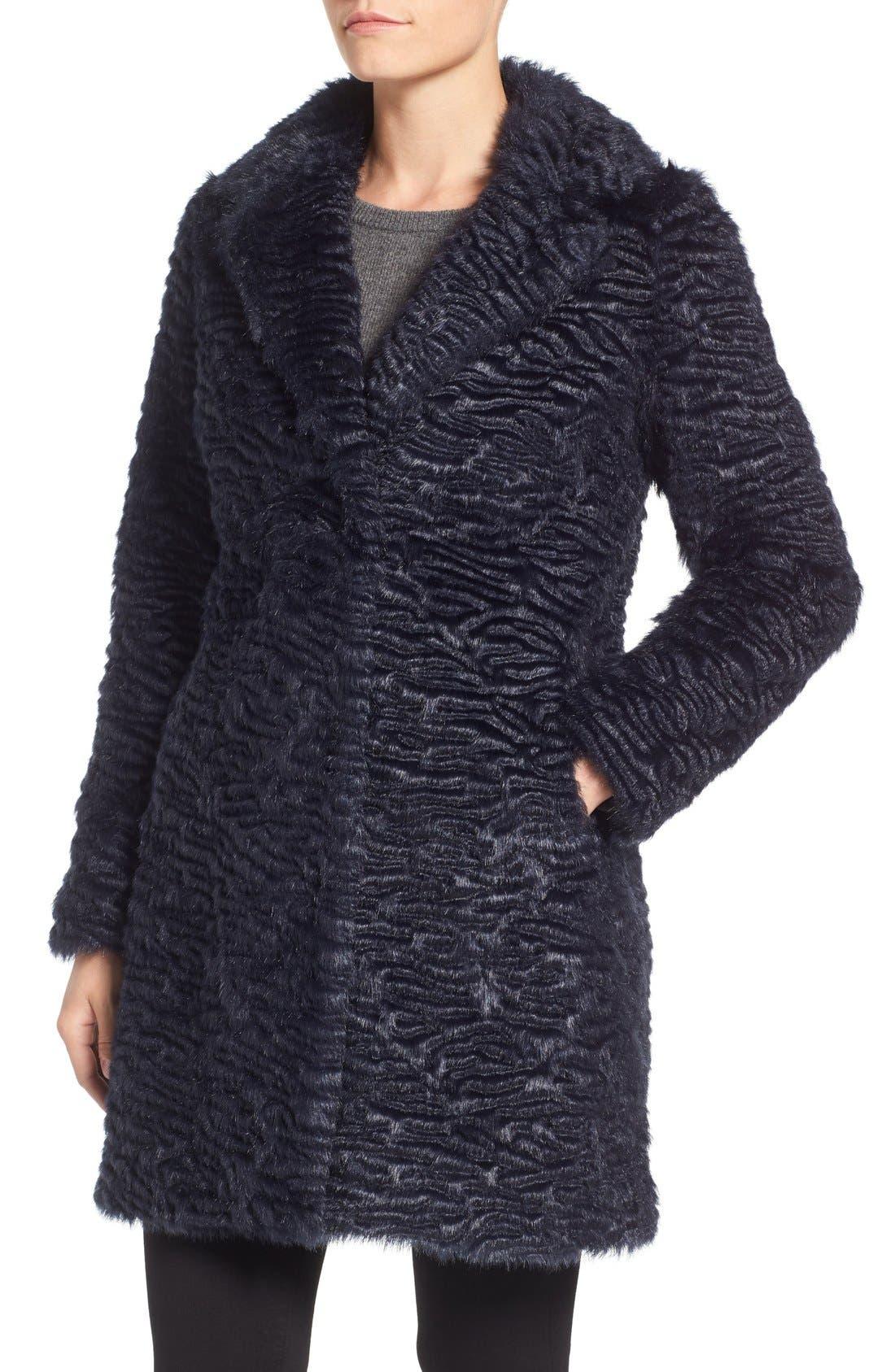 Alternate Image 4  - Eliza J Faux Persian Lamb Coat (Regular & Petite)