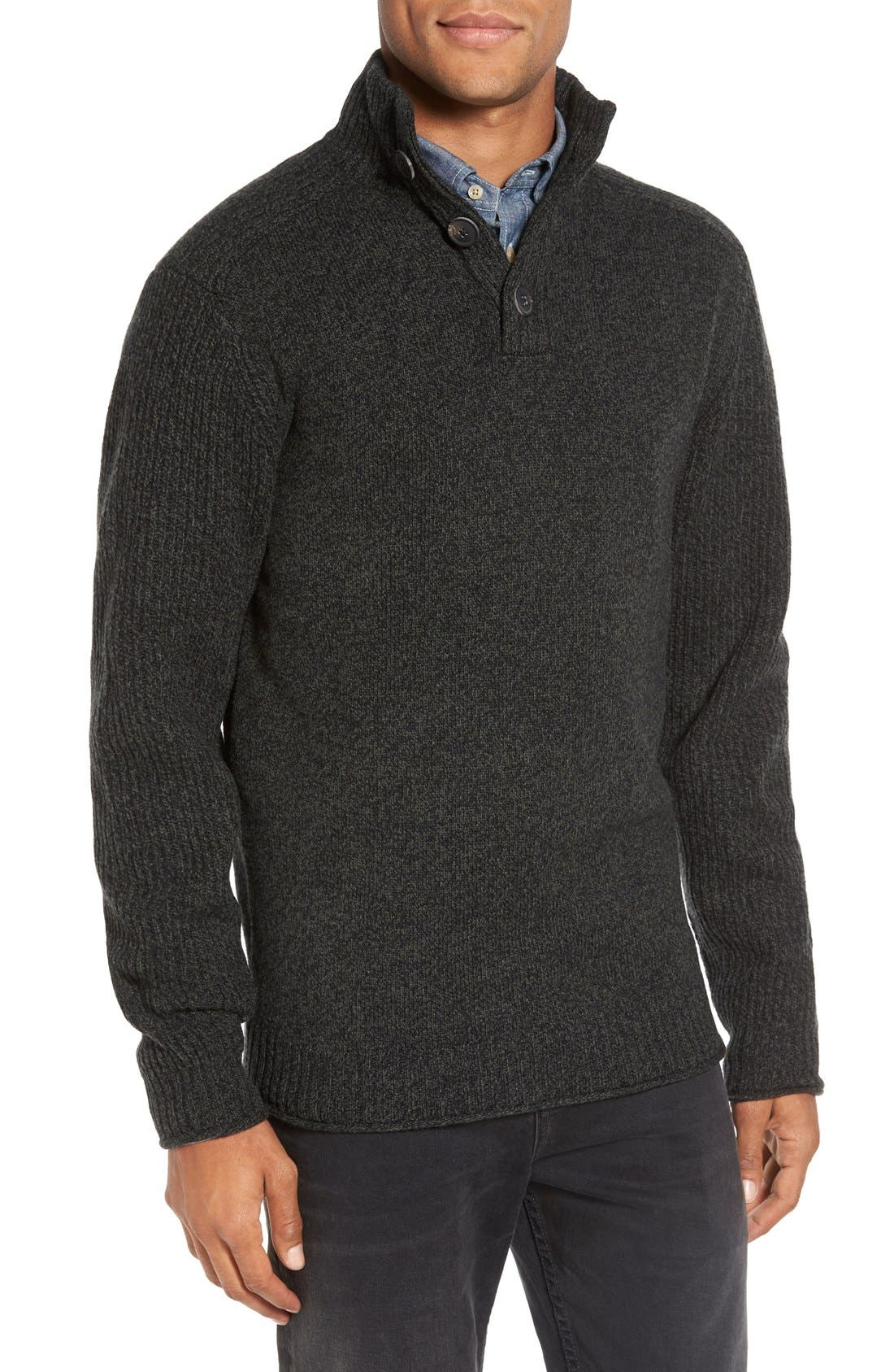 Birkenhead Mock Neck Sweater,                             Main thumbnail 1, color,                             Forest
