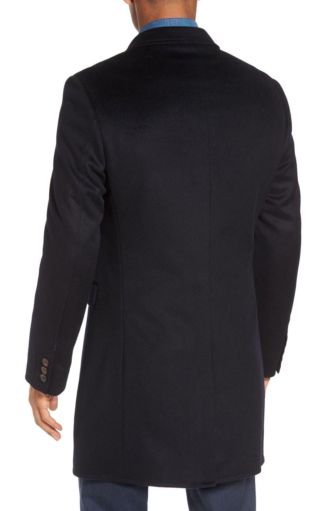 Alternate Image 2  - Ted Baker London Alaska Trim Fit Wool & Cashmere Overcoat