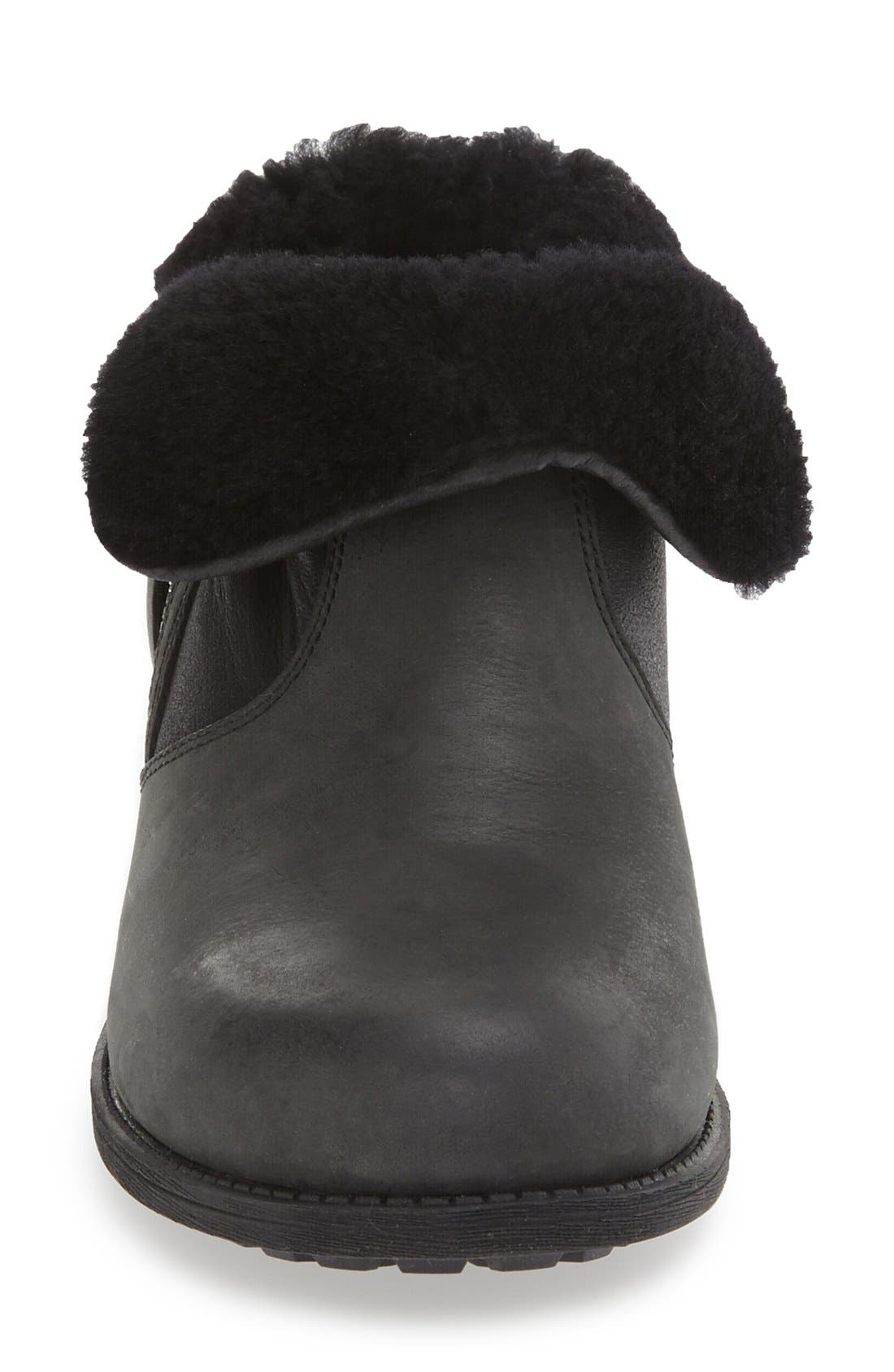 Lavelle Boot,                             Alternate thumbnail 3, color,                             Black Leather