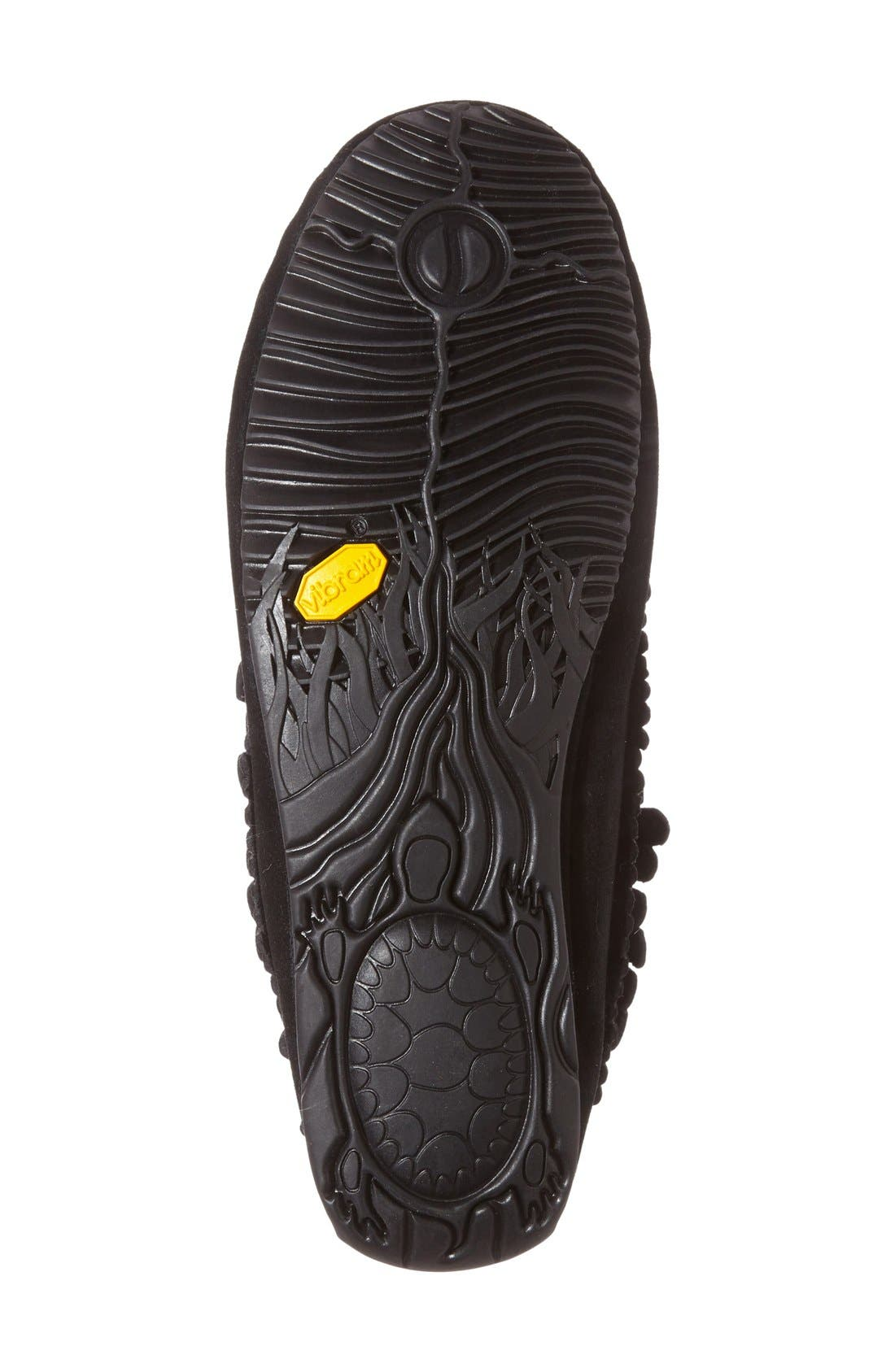 'Harvester' Moccasin,                             Alternate thumbnail 4, color,                             Black Suede